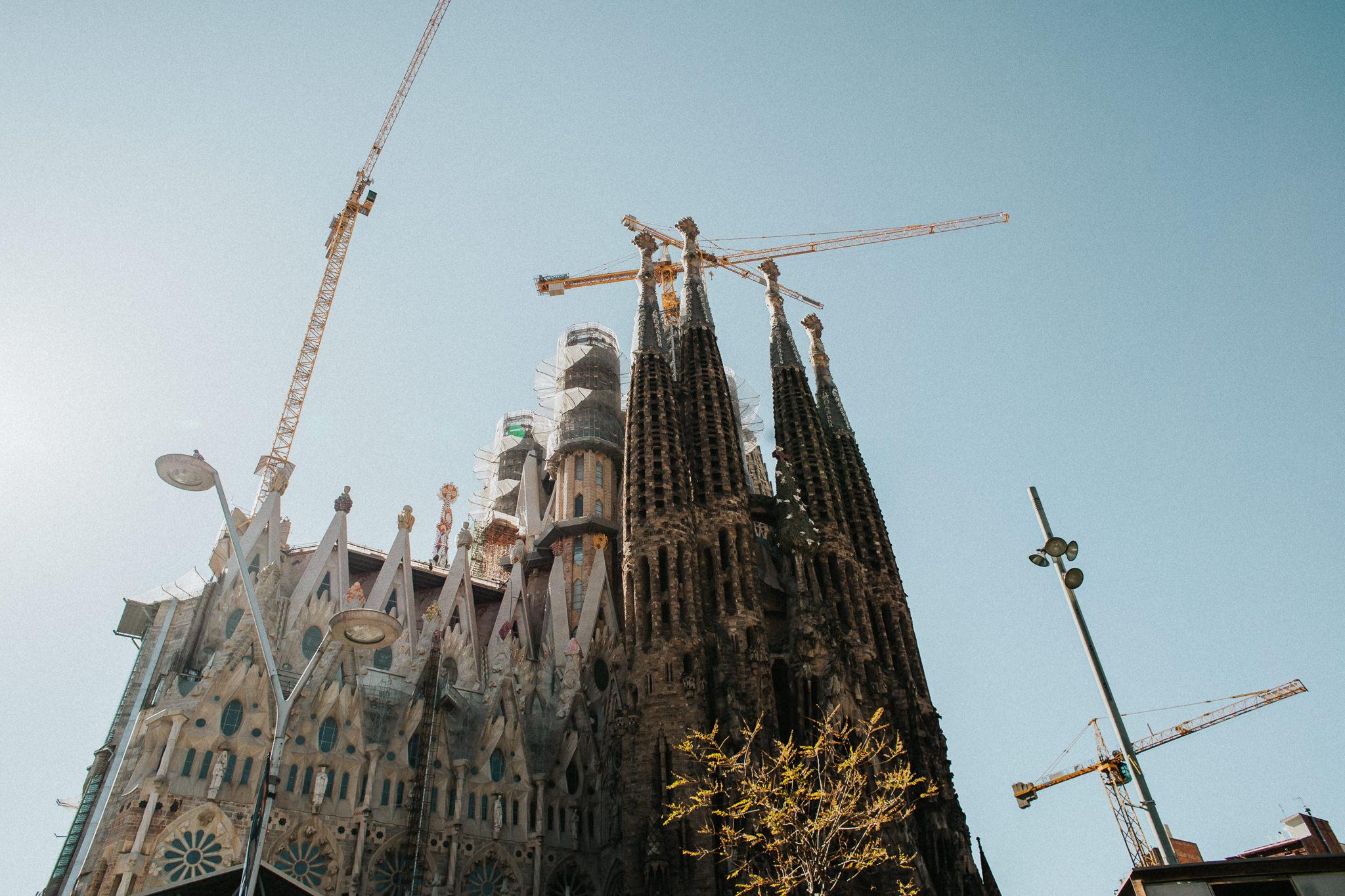 Sagrada Familia construction crane Barcelona