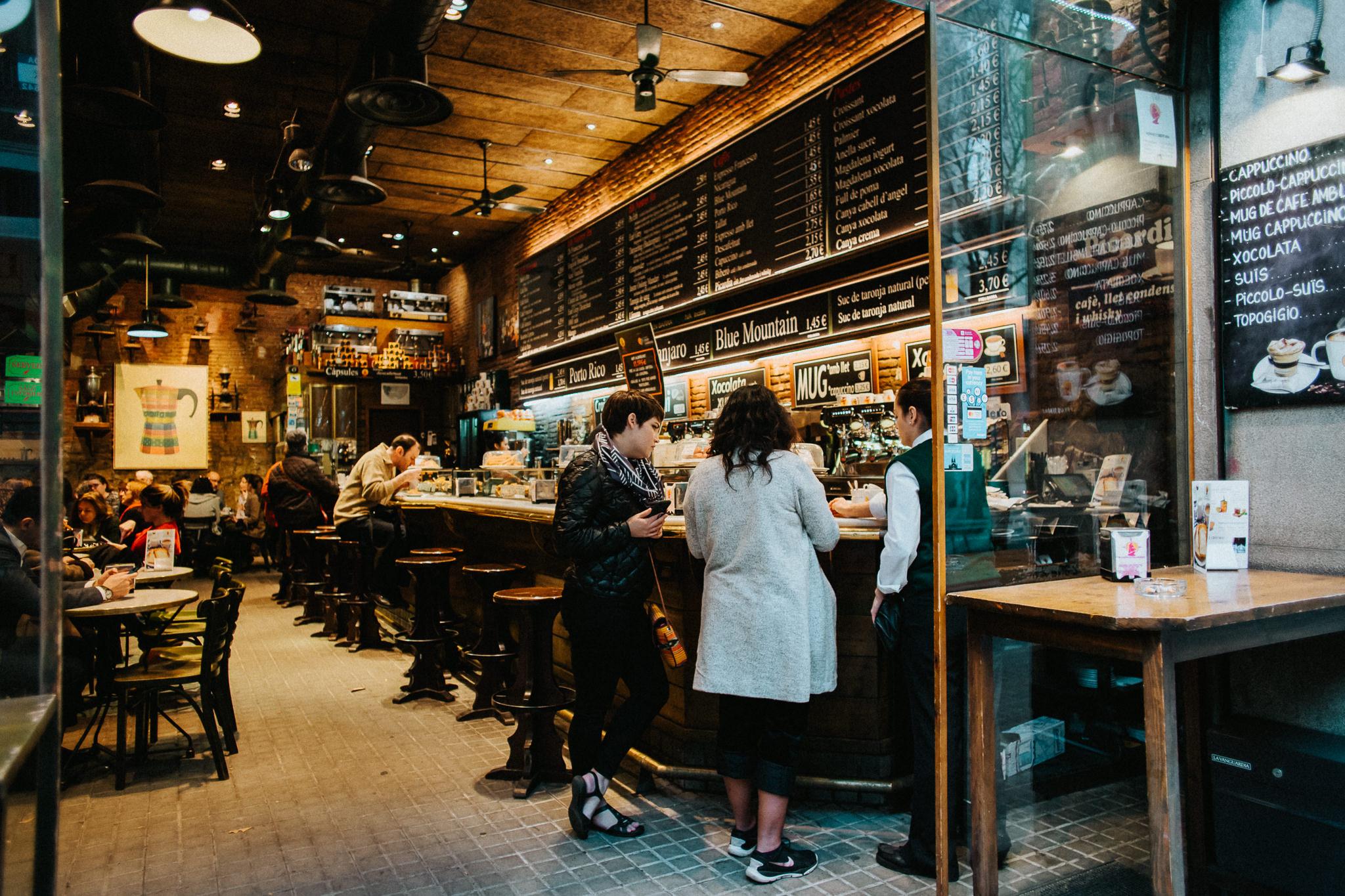 Barcelona espresso cafe