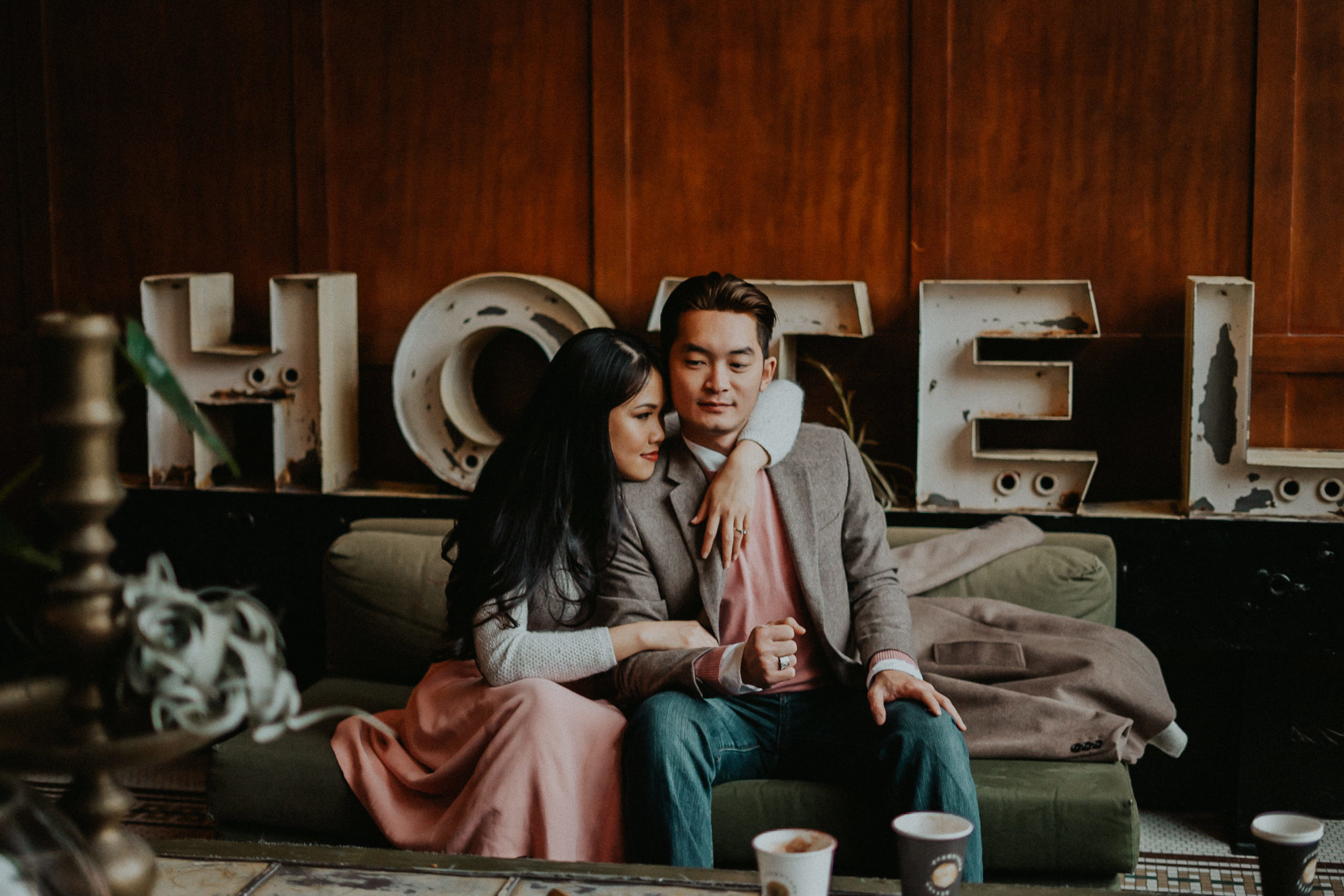 Portland Ace Hotel Best engagement Photographer