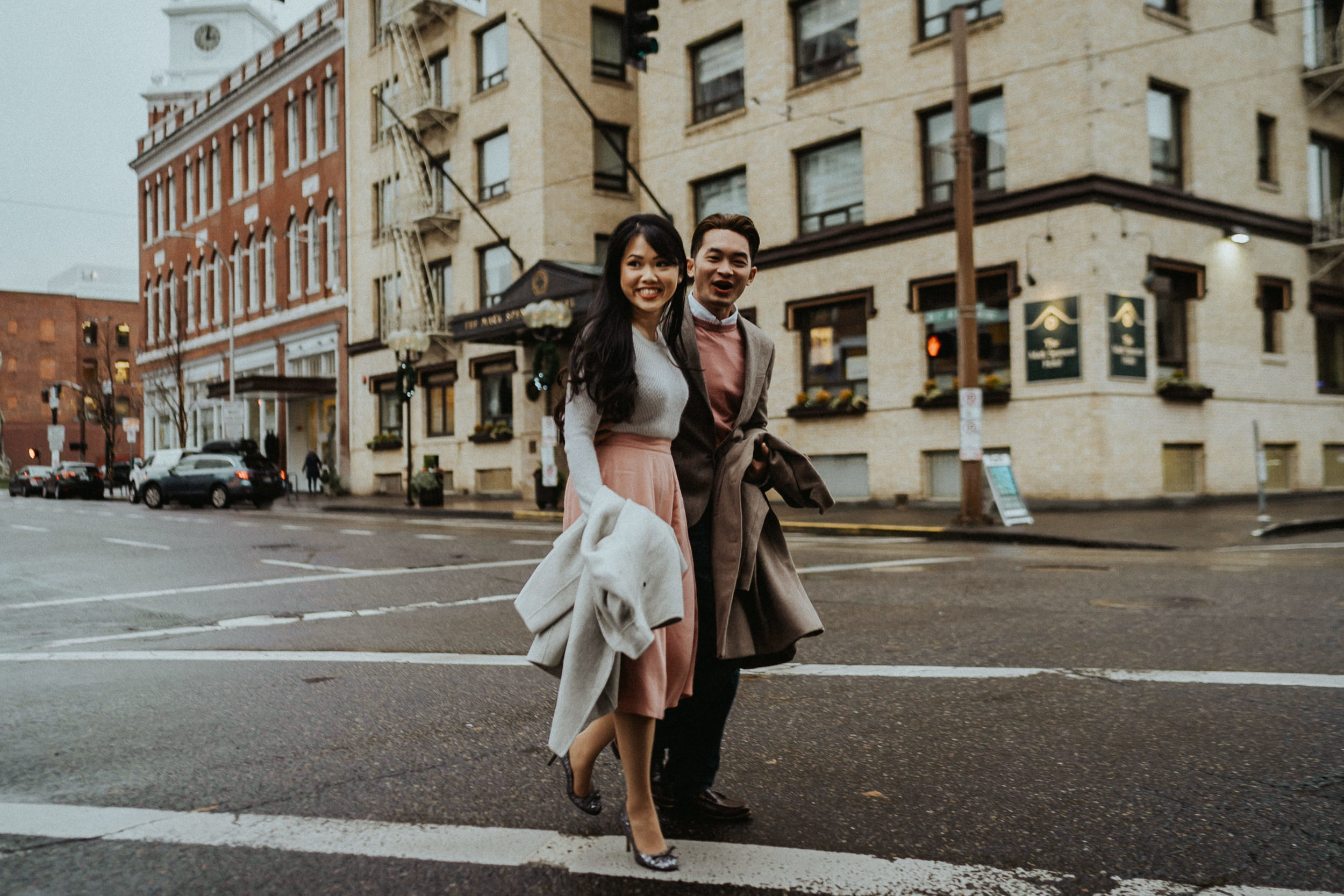 street fashion engagement photography
