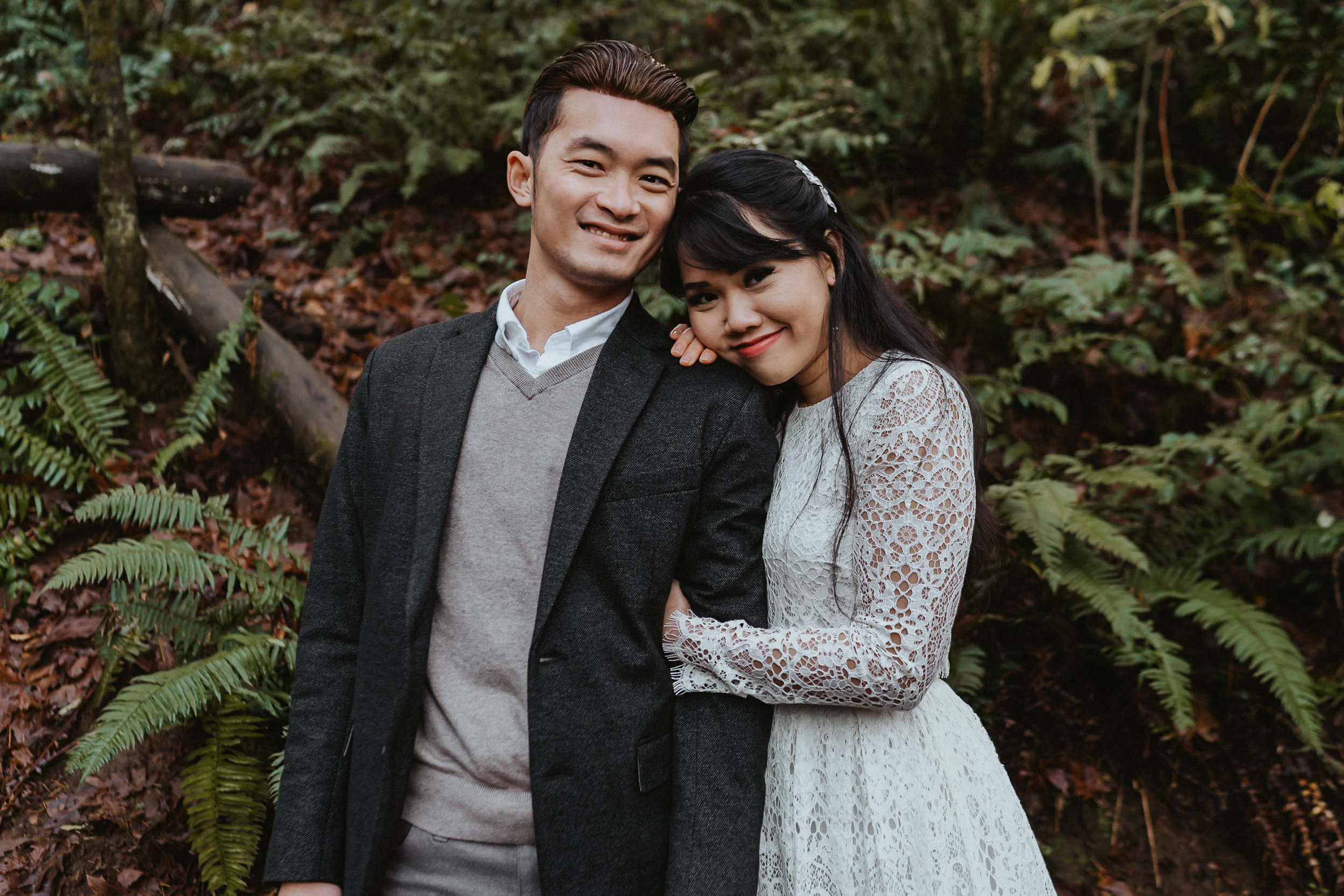 engagement portrait portland photographer Alfred Tang
