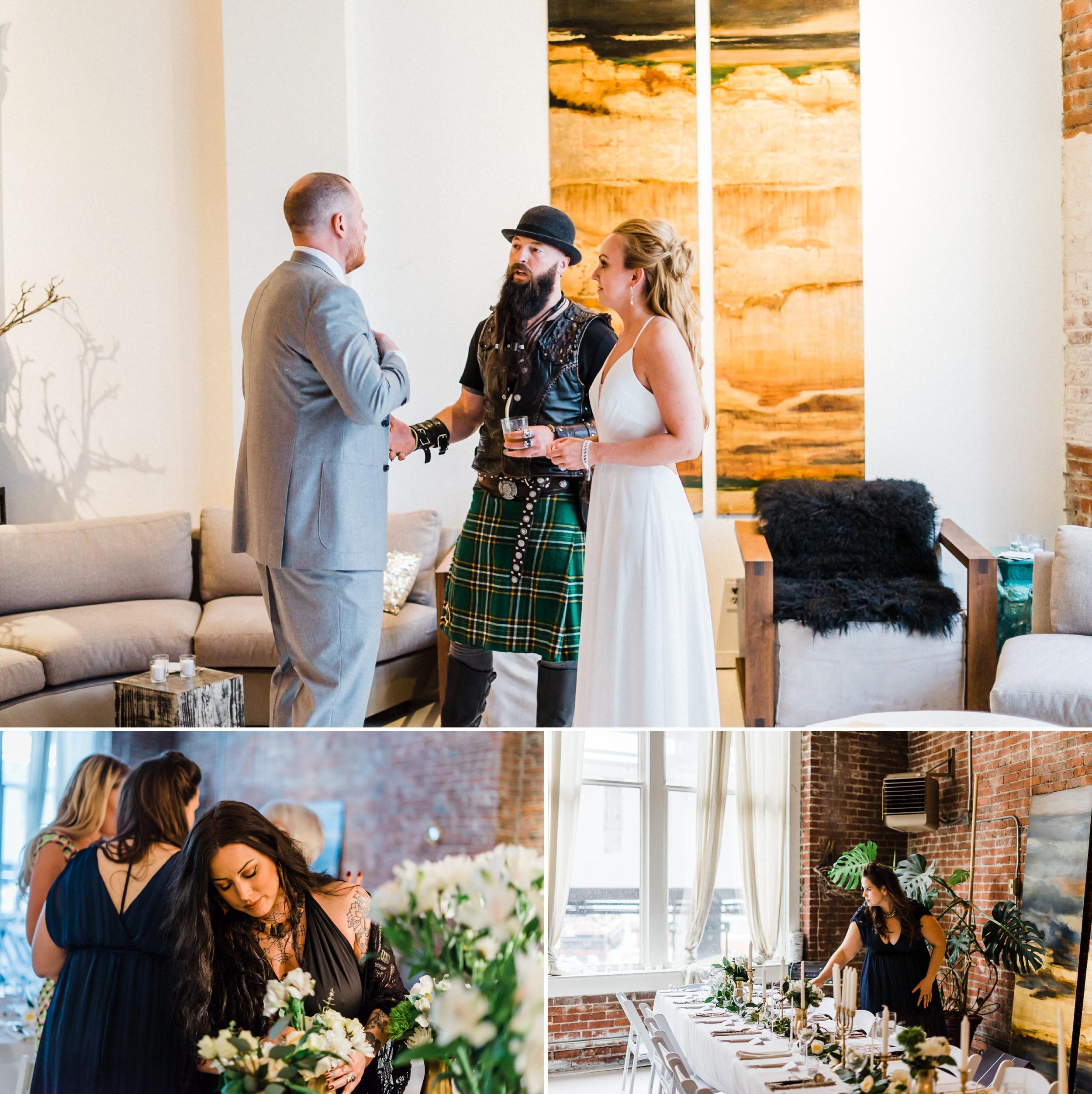 Kilt officiate Beeroness Wedding Seattle Loft