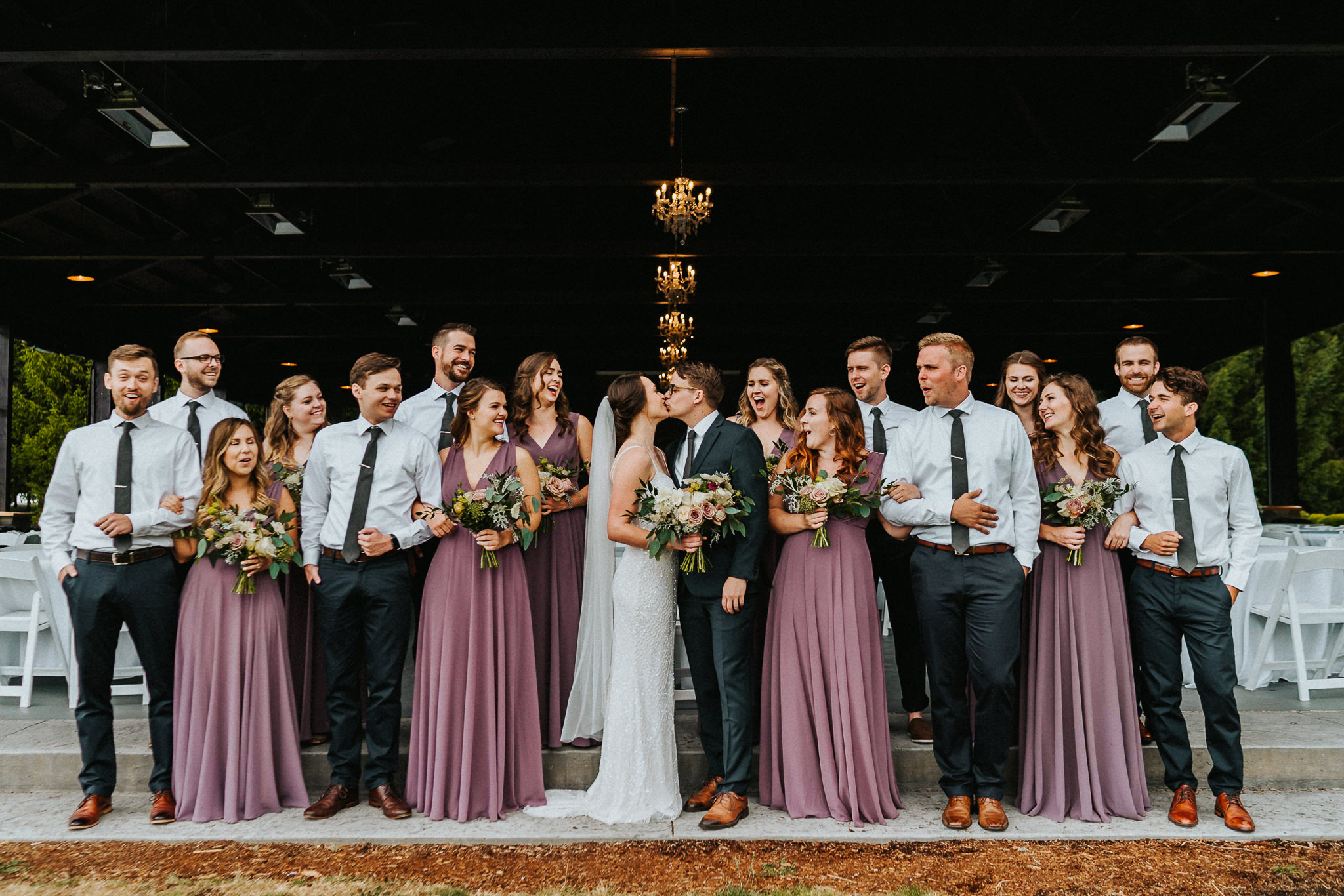 Wedding Party Water Oasis Reception Best Portland Wedding Photographer Alfred Tang