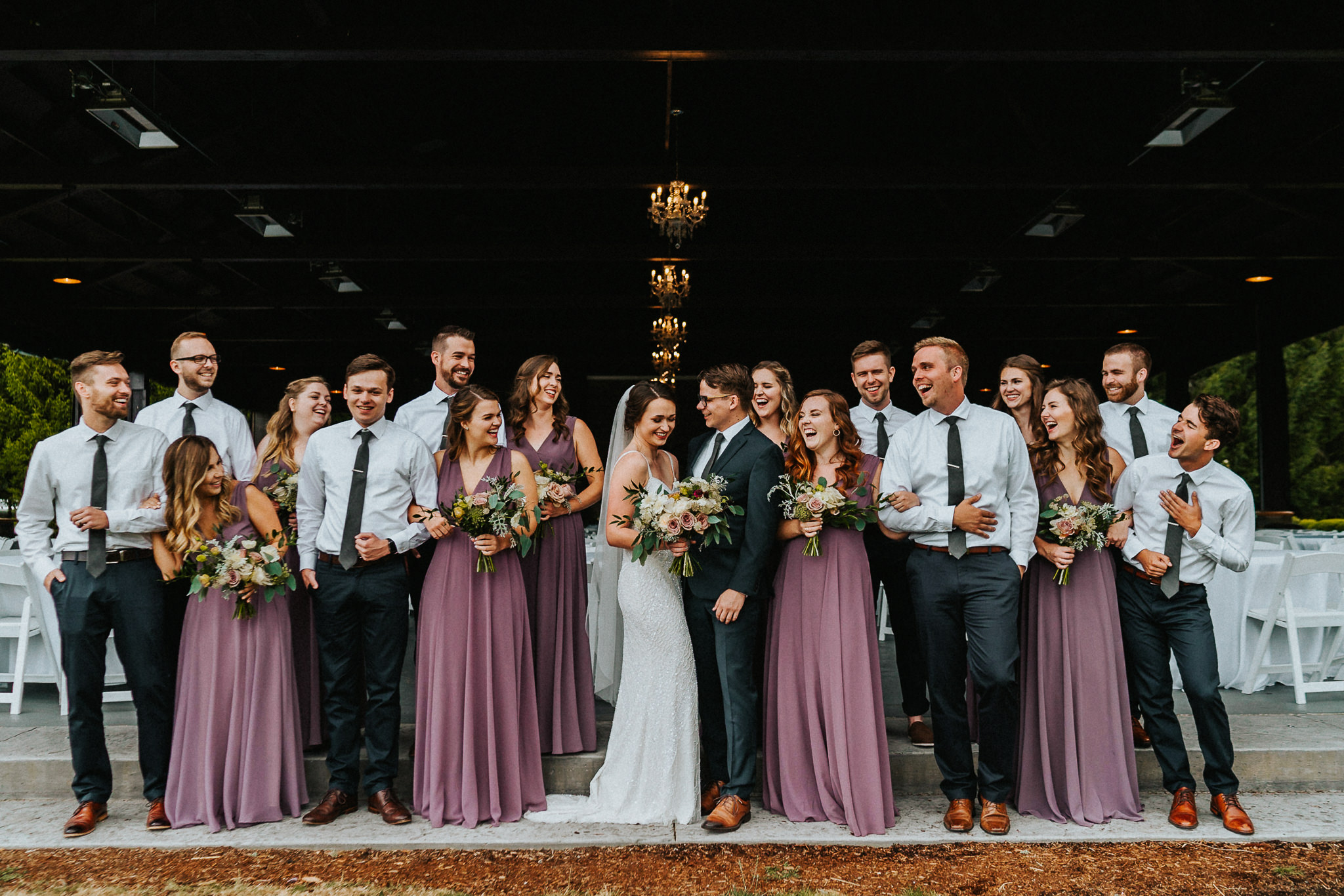 Wedding Party Water Oasis Laugh Best Portland Wedding Photographer Alfred Tang