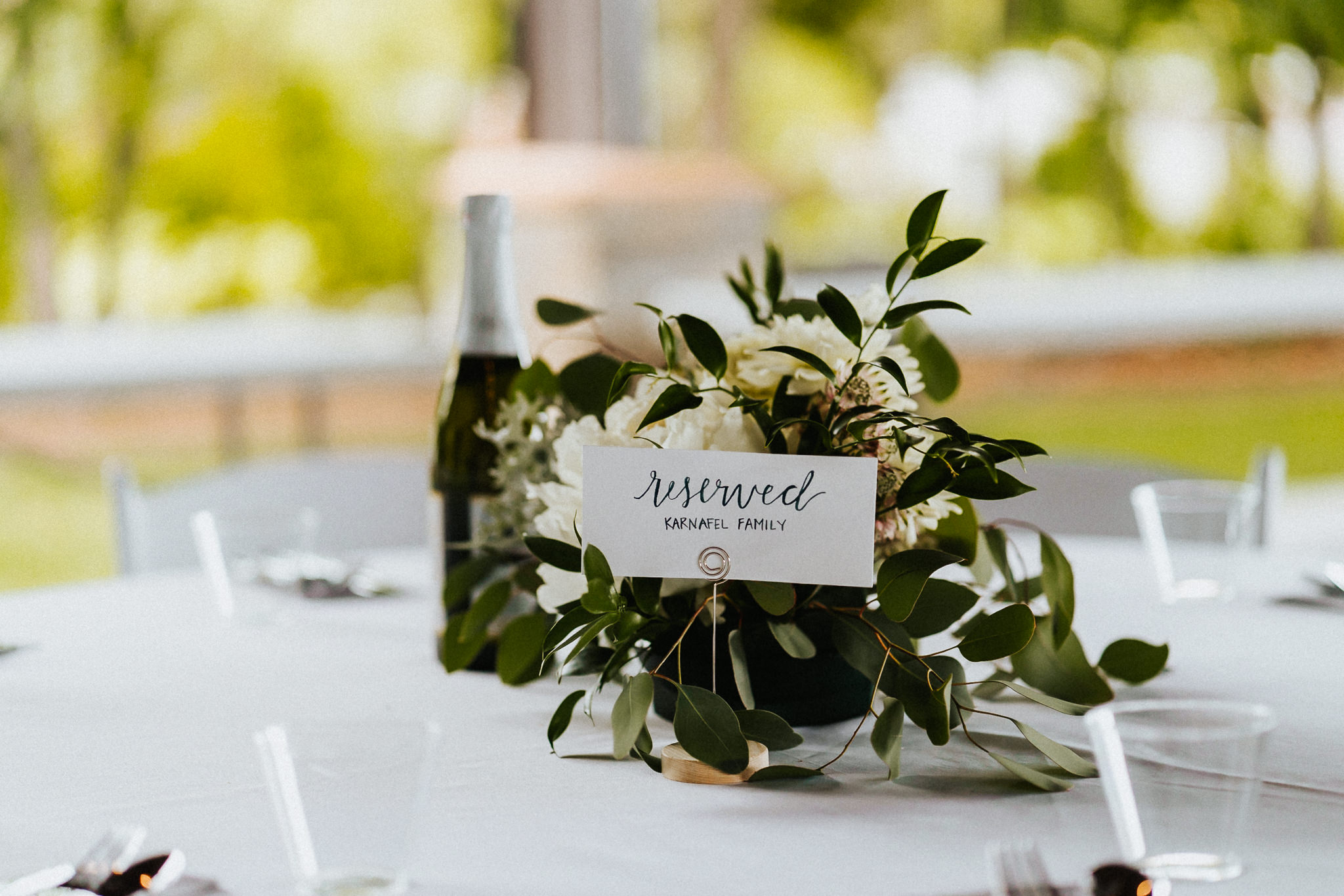 Wedding Table Set up Water Oasis Family True Vine Florals