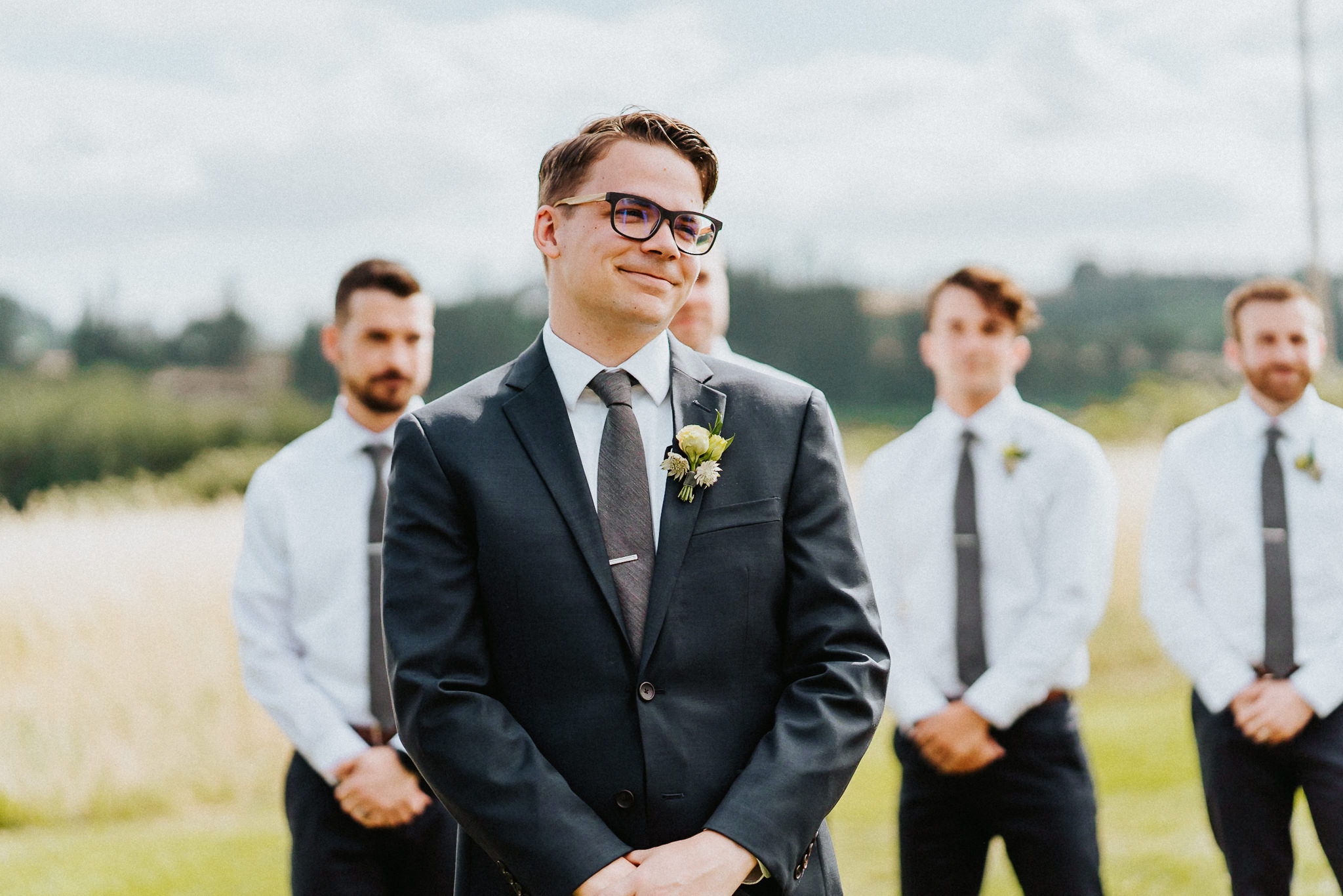 Groom waiting bride emotional alter Wedding Photography Alfred Tang