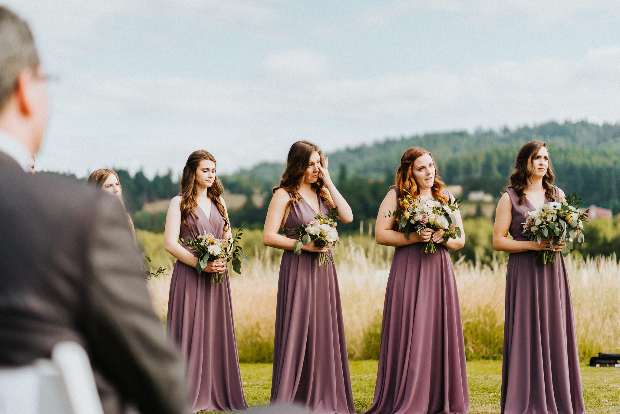 Bridesmaid emotional candid photography wedding Oregon best of
