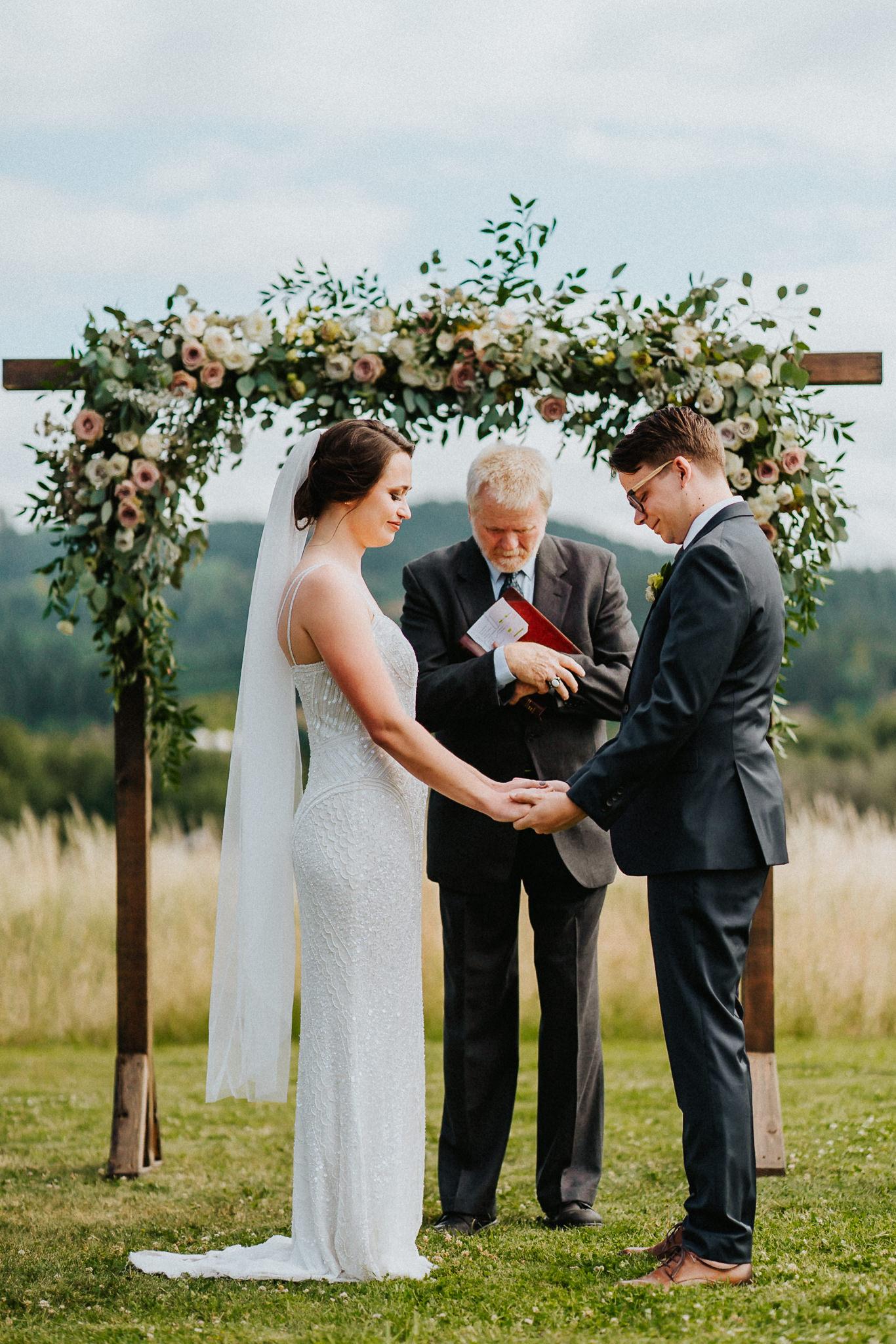 Bride Groom Minister prayer blessing God Christian Alter Wedding