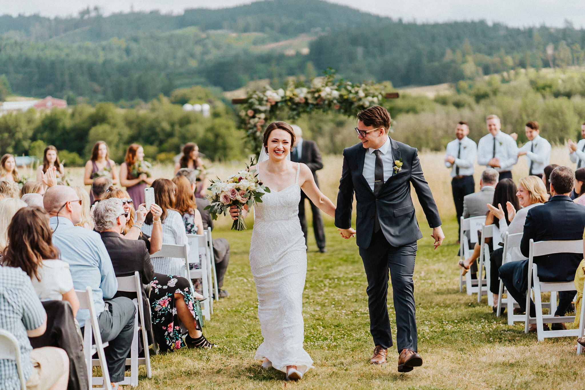 Ceremony recessional wedding Water Oasis photography