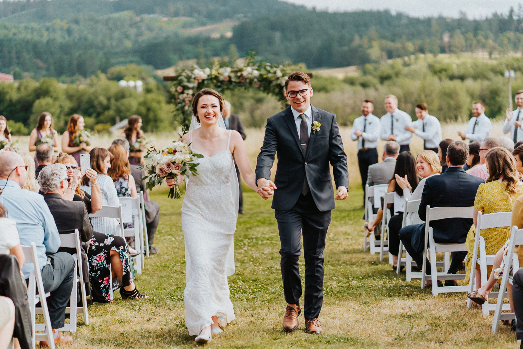 recessional wedding Water Oasis Alfred Tang Portland Photographer