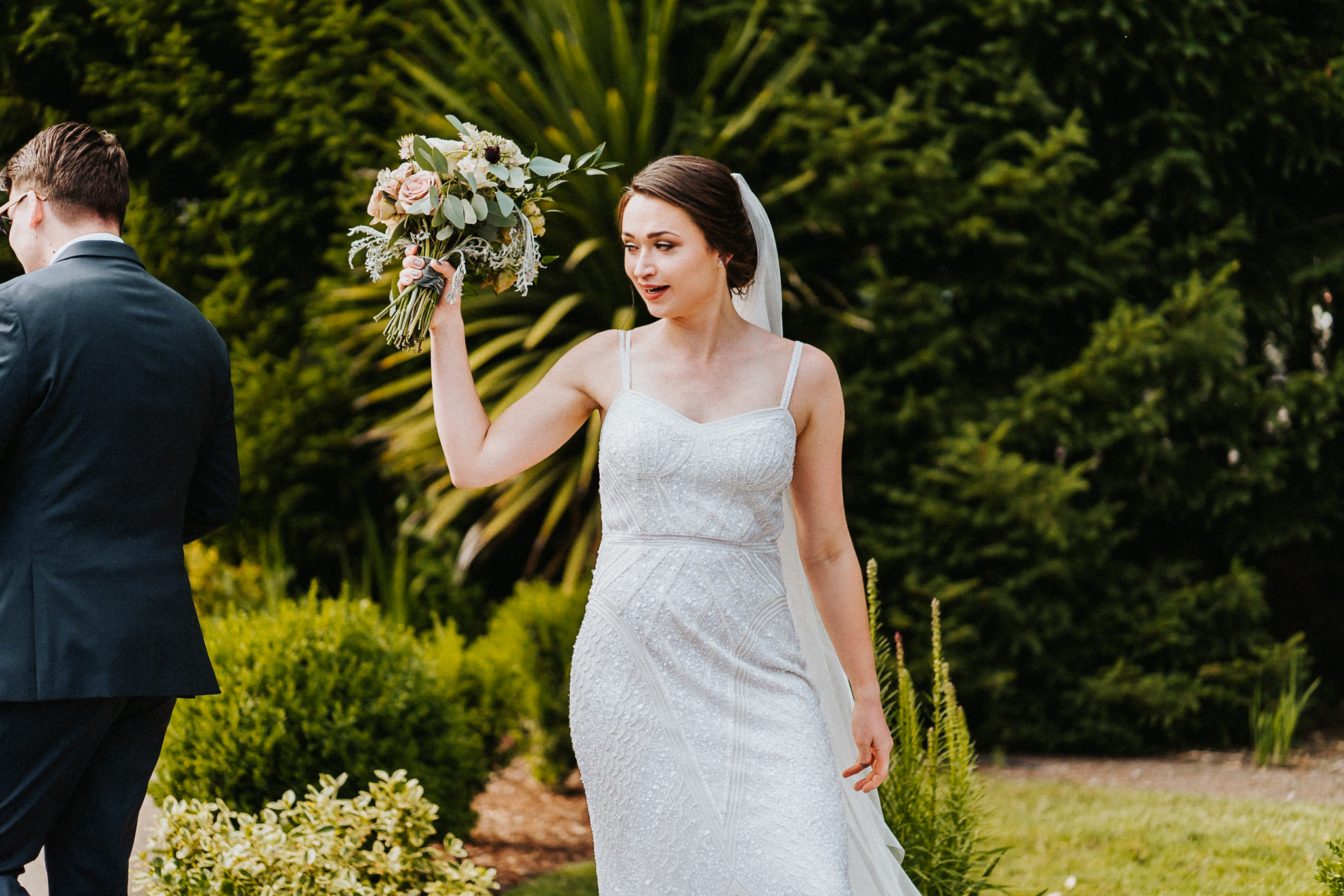 Bride swag celebrate post Ceremony Wedding