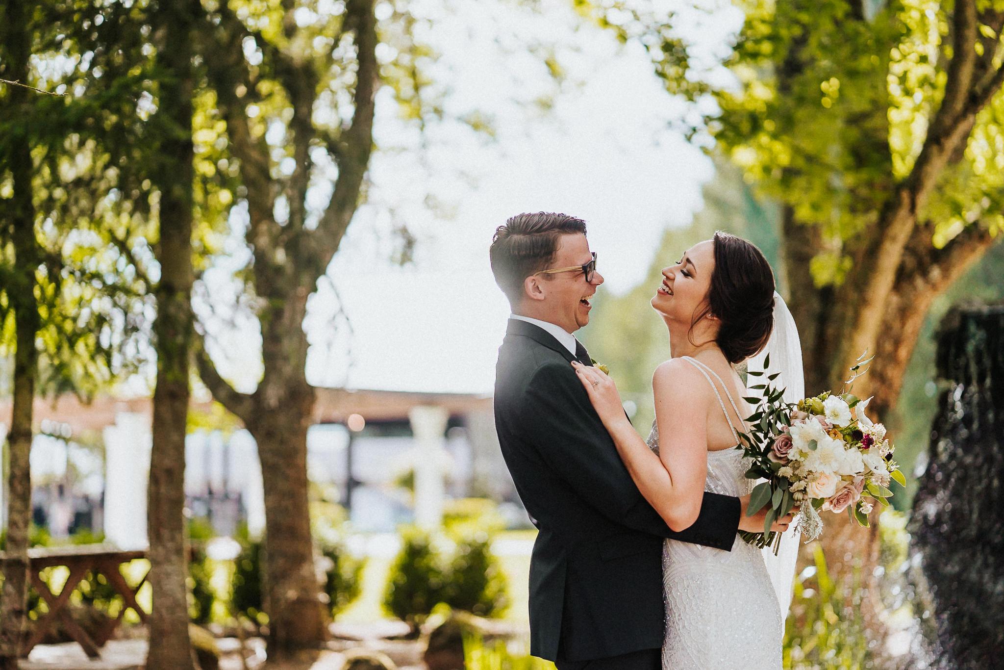 Water Oasis Wedding Portrait Best Oregon Photographer