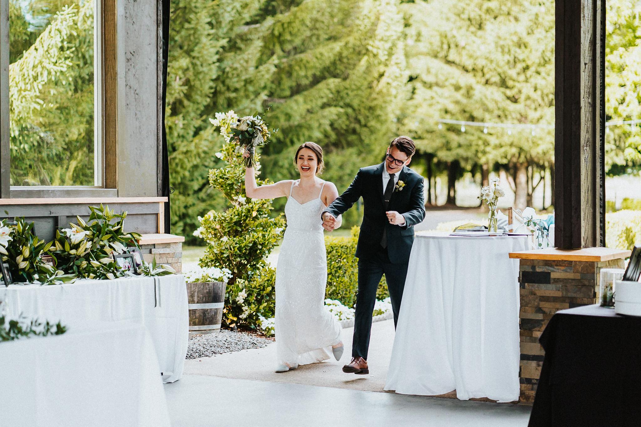 Grand Entrance Bride Groom Water Oasis