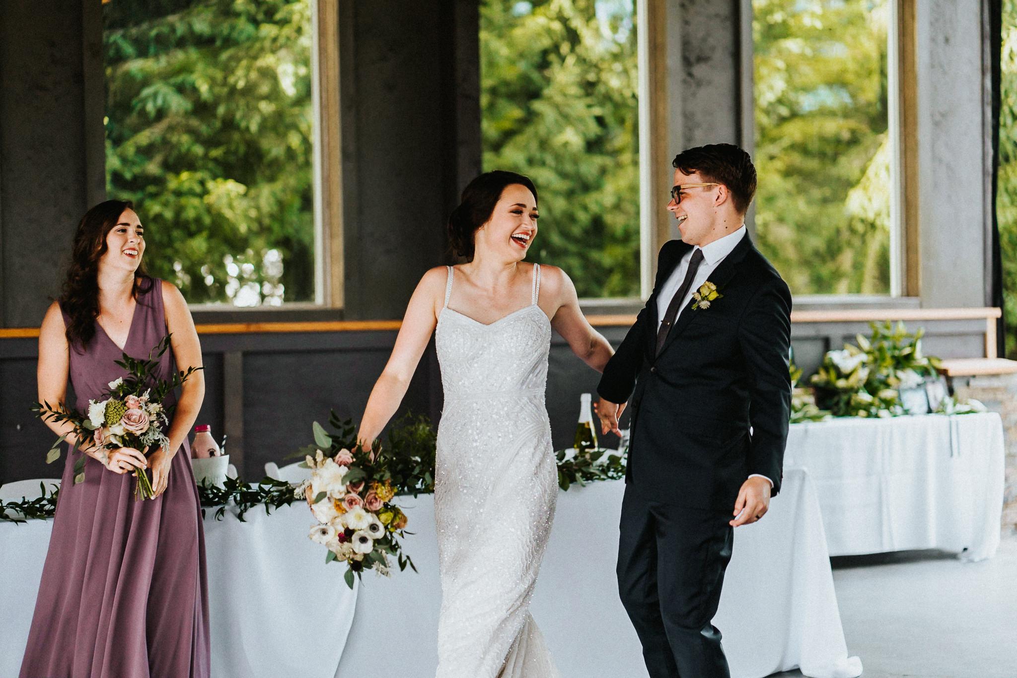 Happy Bride Groom Candid Grand Entrance Wedding Reception