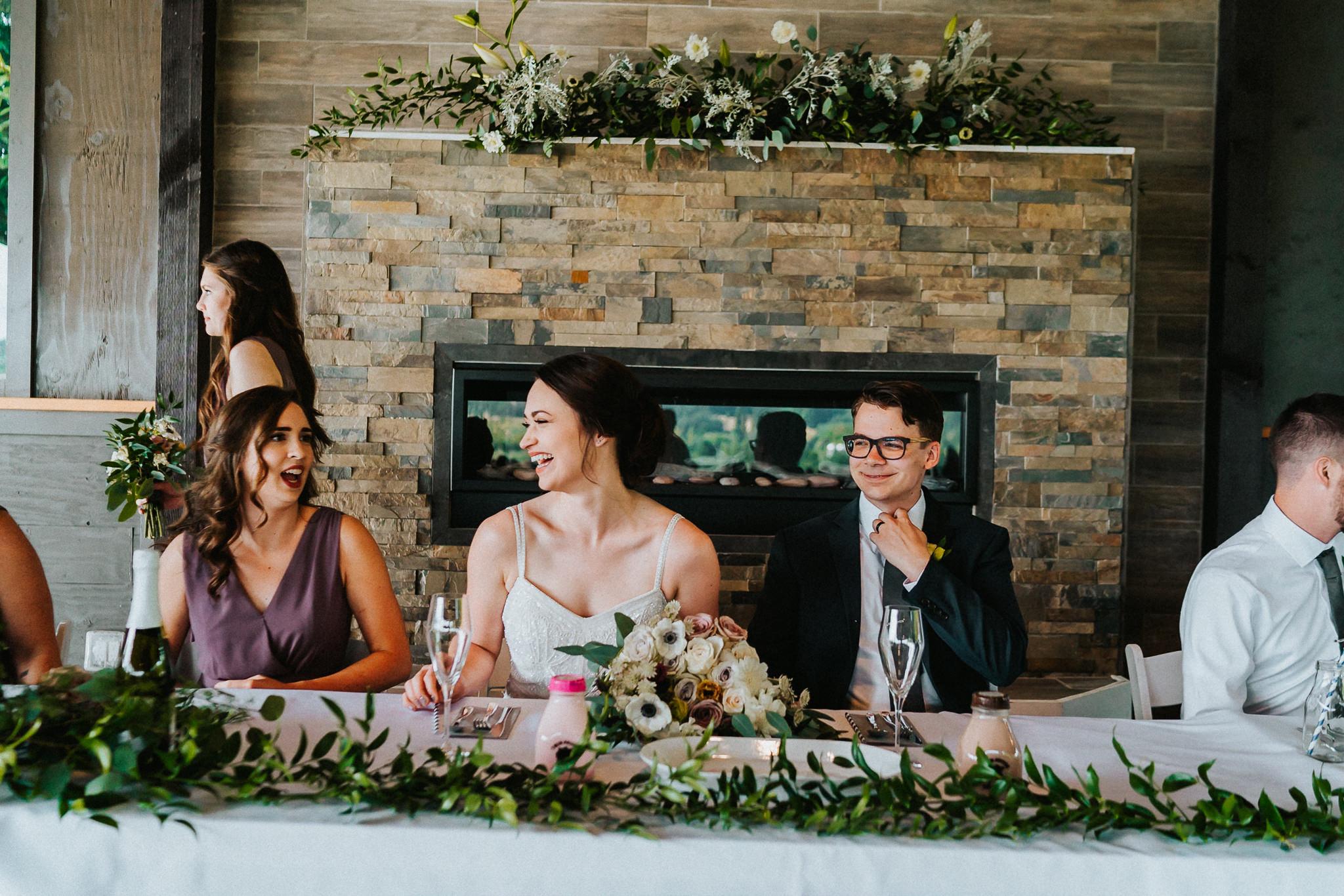 Bride Groom head table Sweetheart Stunning Photography