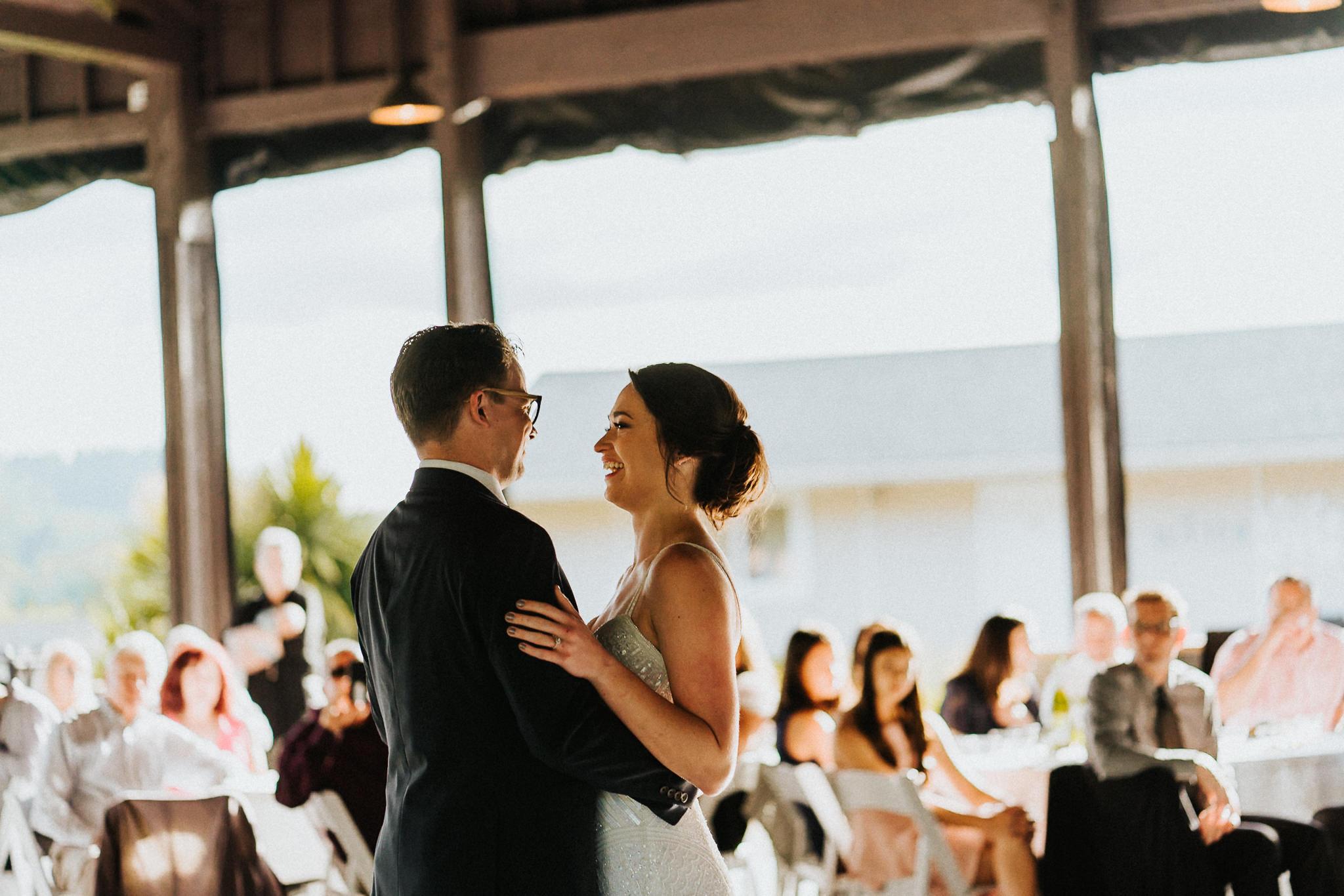 First Dance Bride Groom Portland Wedding
