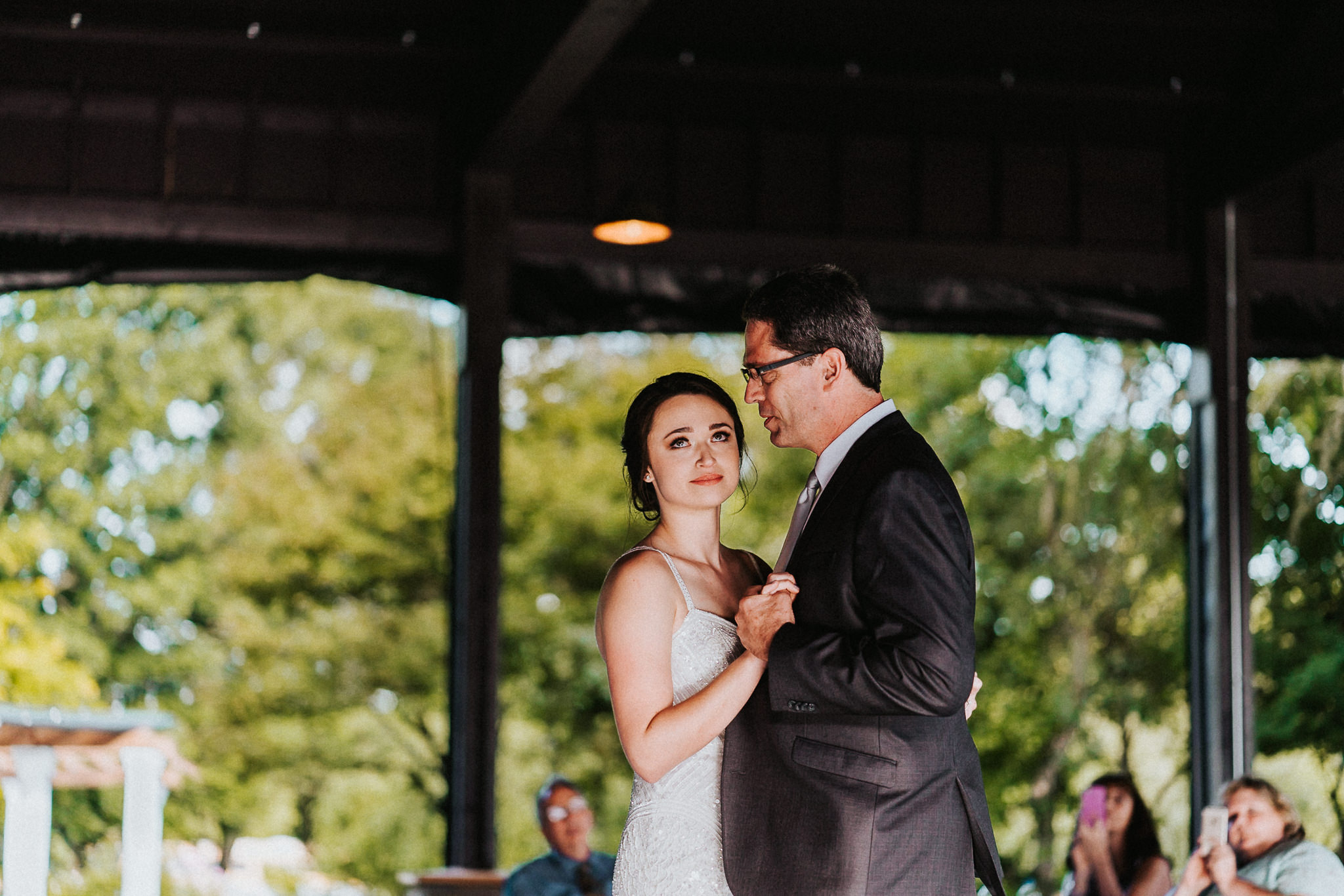 Bride look up father mother dance wedding Photographer