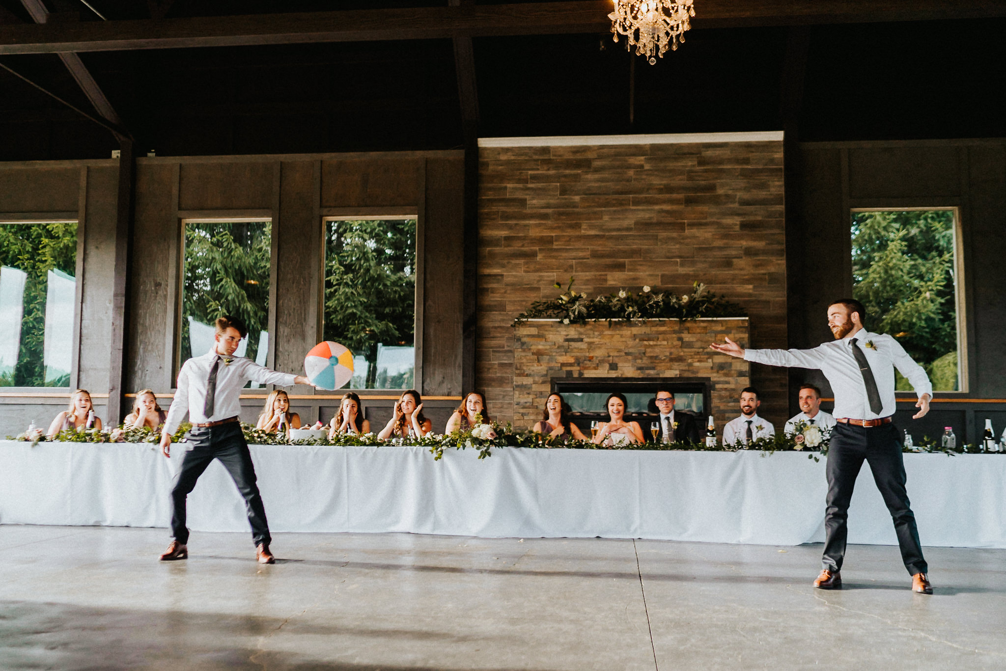 Silly Family wedding dance Water Oasis Wedding Reception