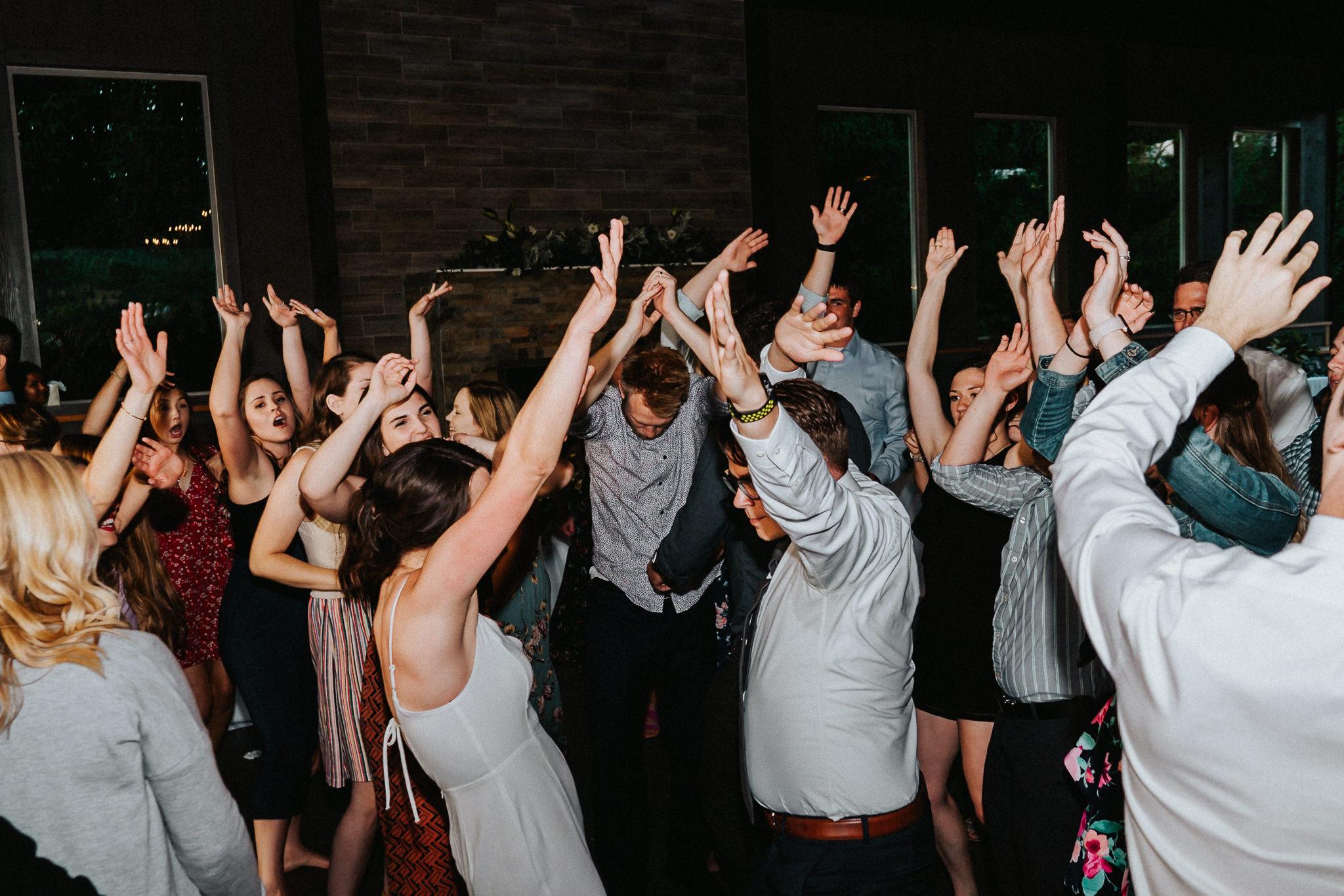 Water Oasis Reception Photo flash dance fun Wedding
