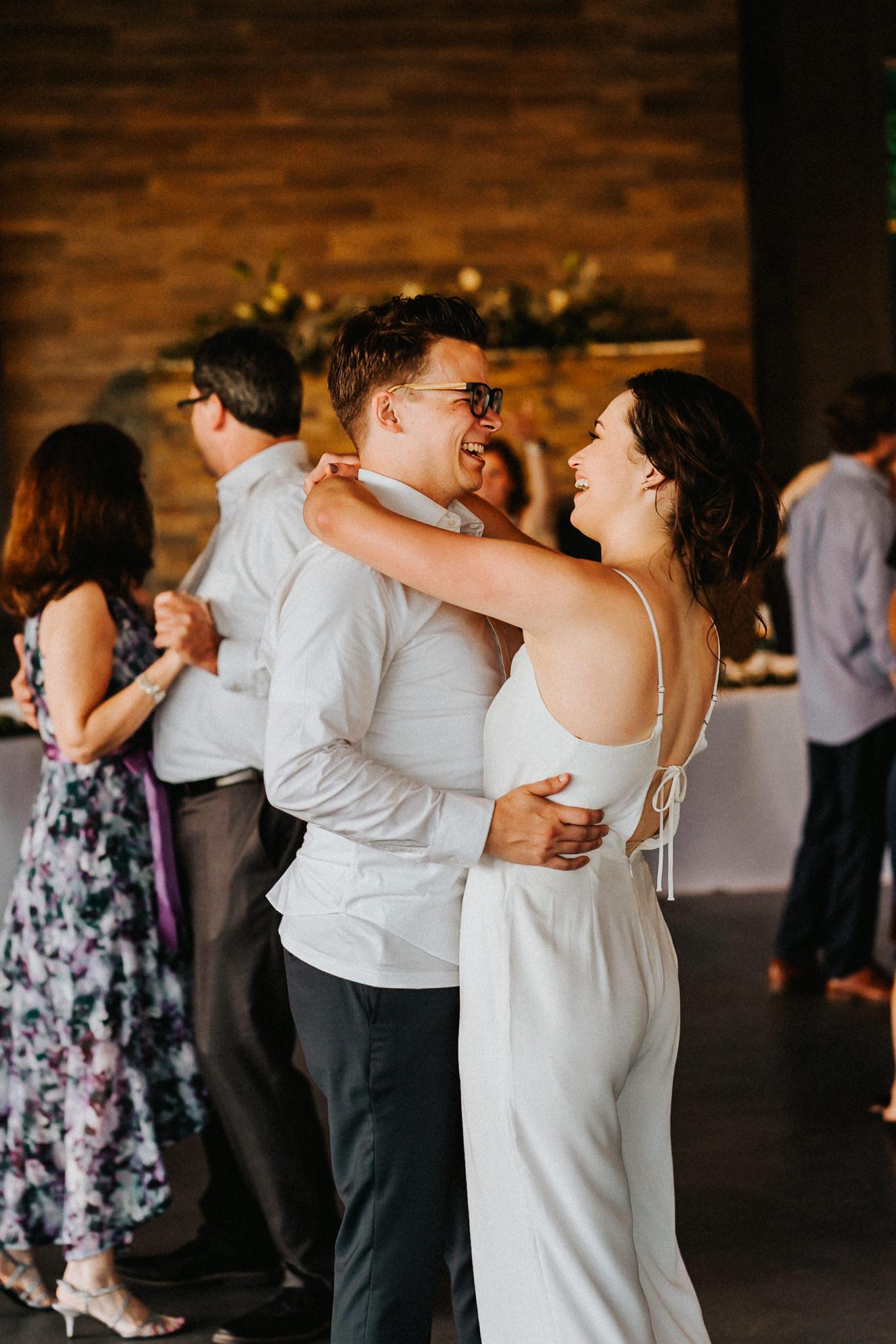 Bride Groom sweaty dance last song wedding reception