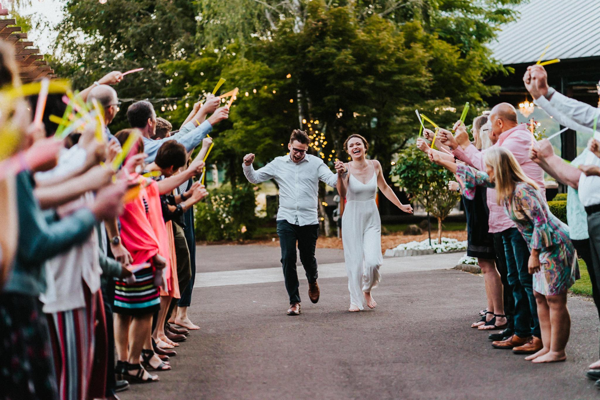 Wedding glow stick send off Water Oasis