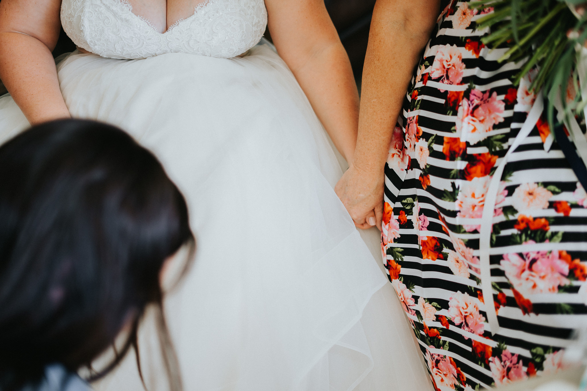 Bride Mother Hold Hands getting ready photographer Alfred Tang Best Portland
