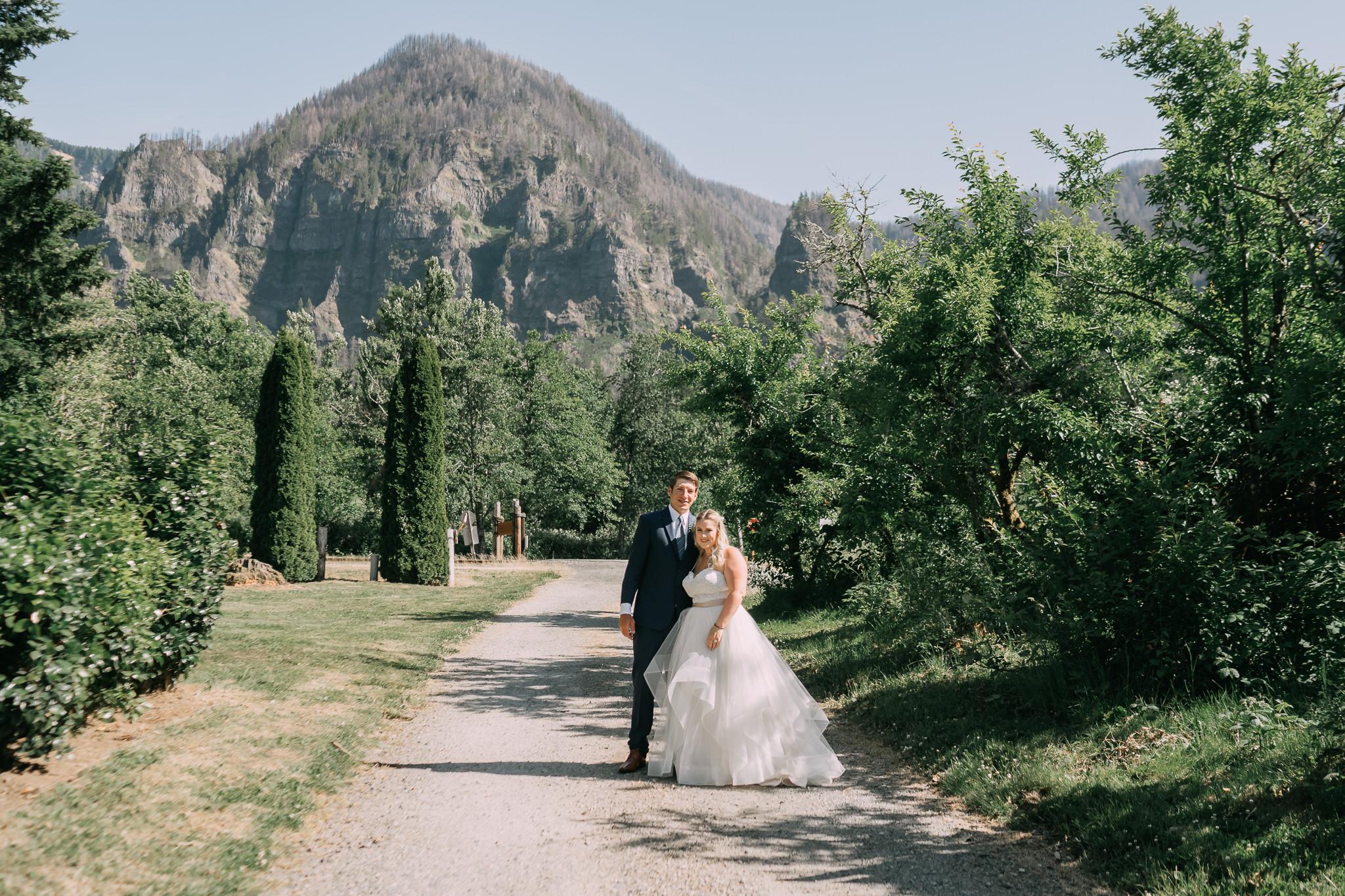 Wedding First Look turn around candid Portland Oregon Wedding Photographer
