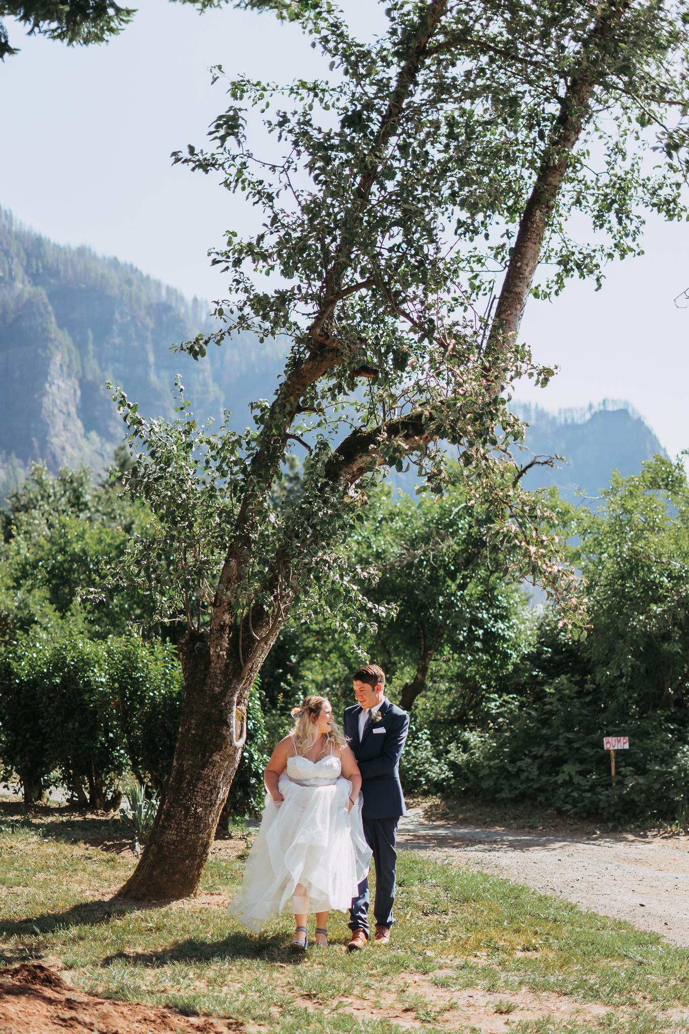 candid photojournalistic wedding bride groom portrait Portland Oregon