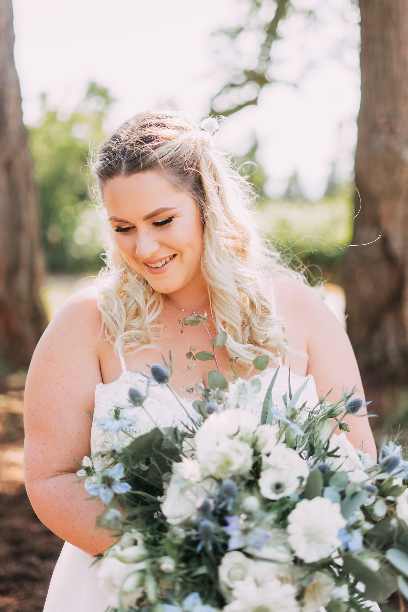 bride formal portrait Oregon Backyard Wedding