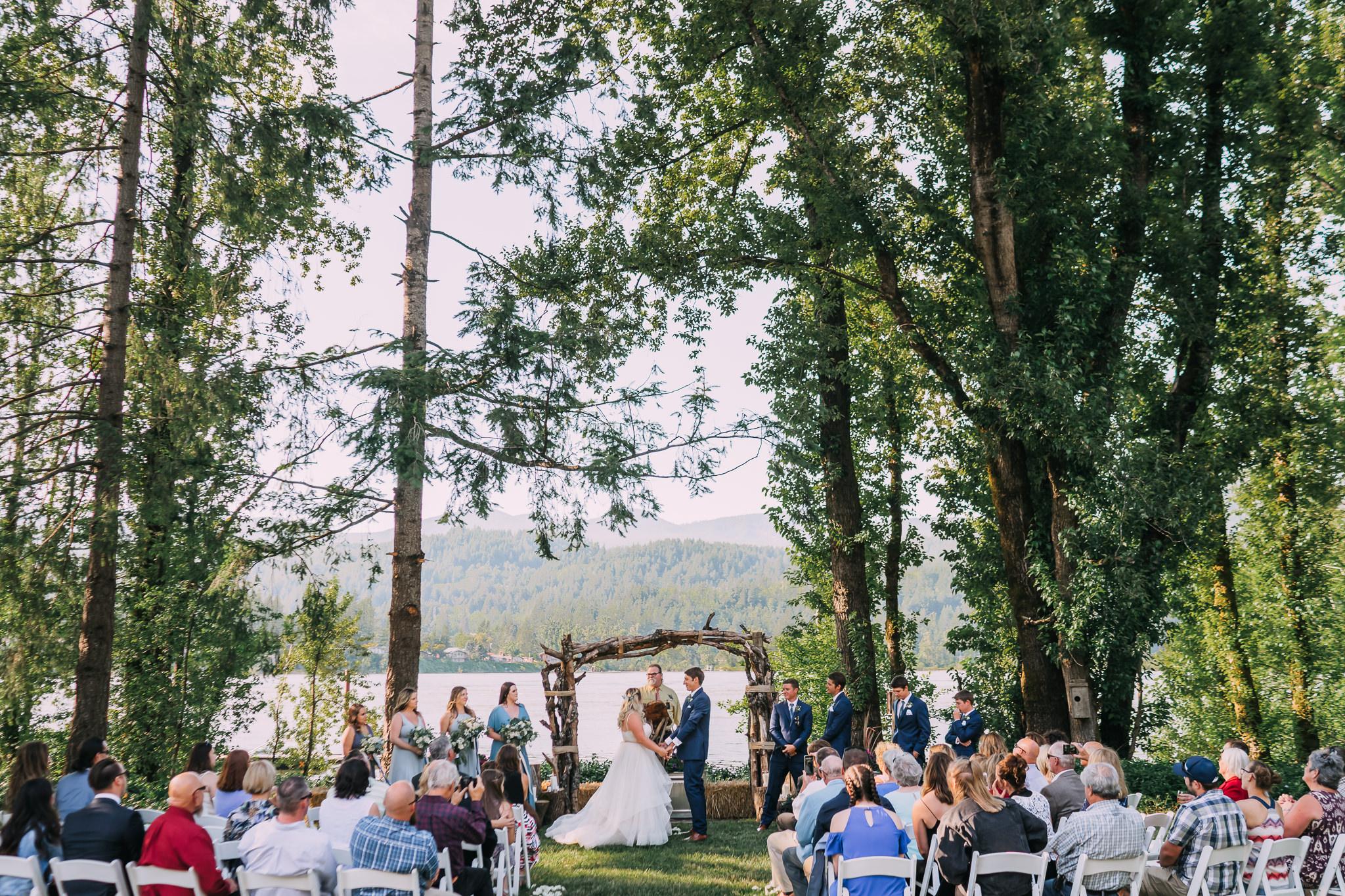 Ceremony Photo Bride Groom Portland oregon Columbia River Gorge