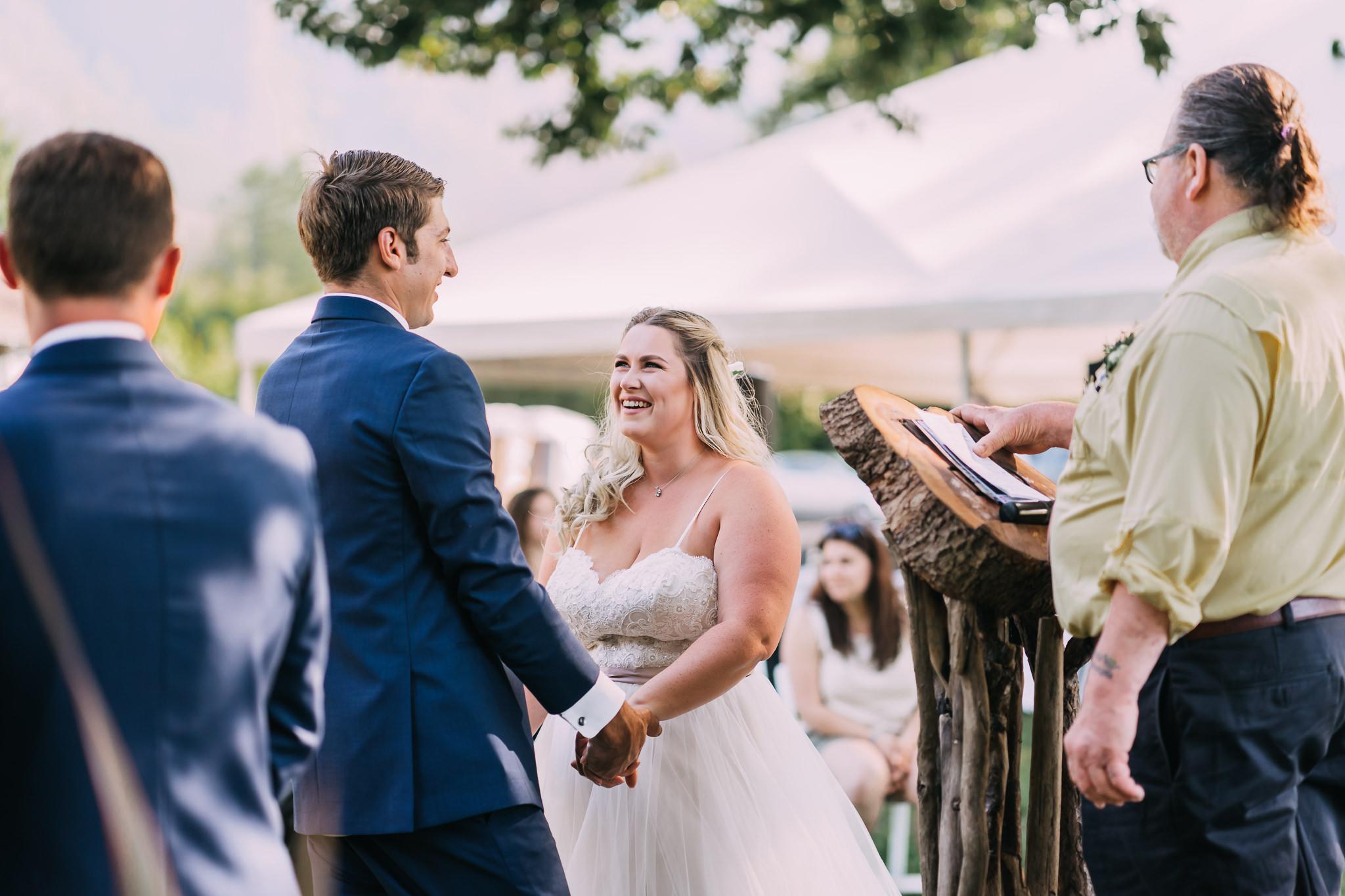 Bride Groom Smile Ceremony