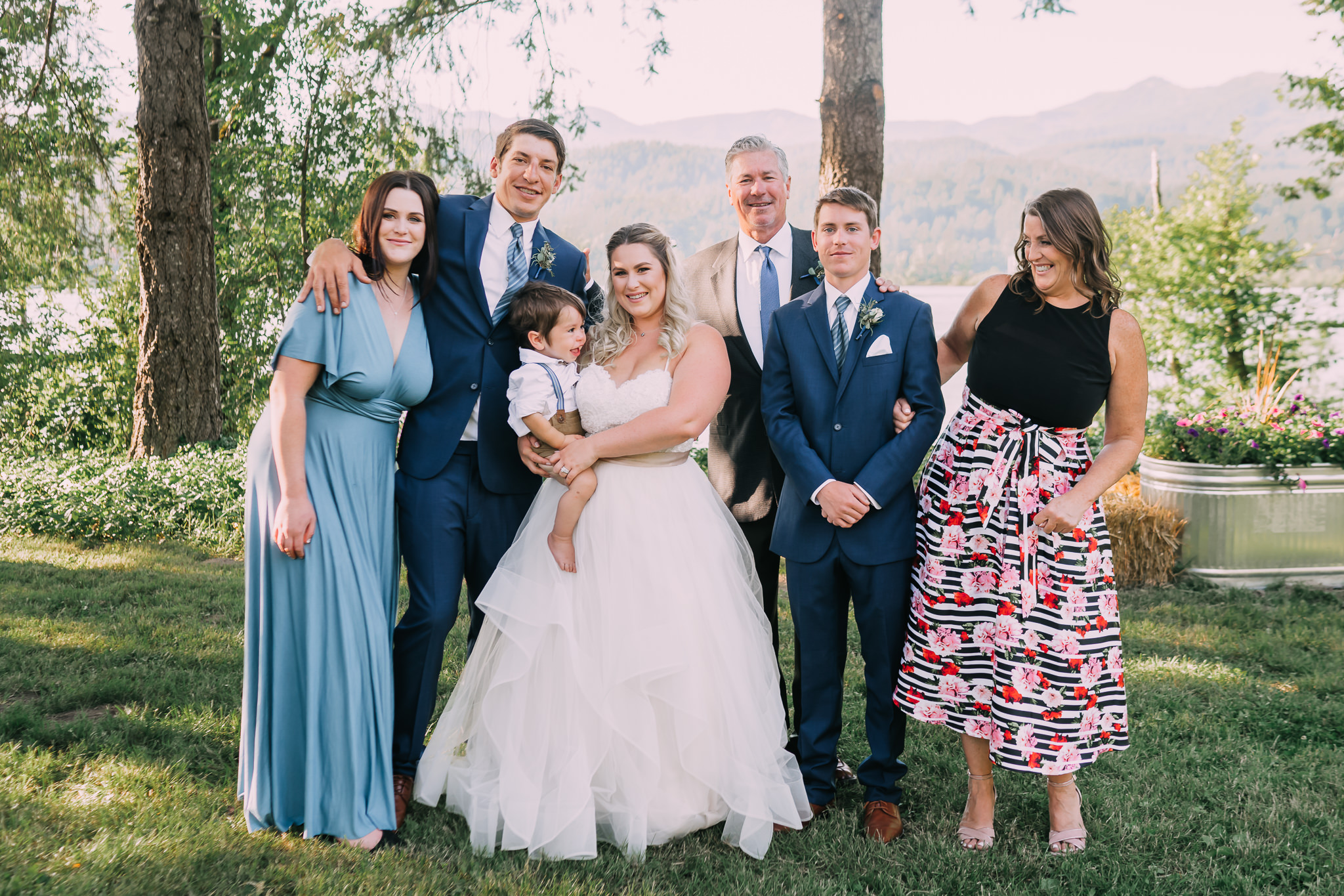 Bride's family group formal photo Wedding Backyard Alfred Tang