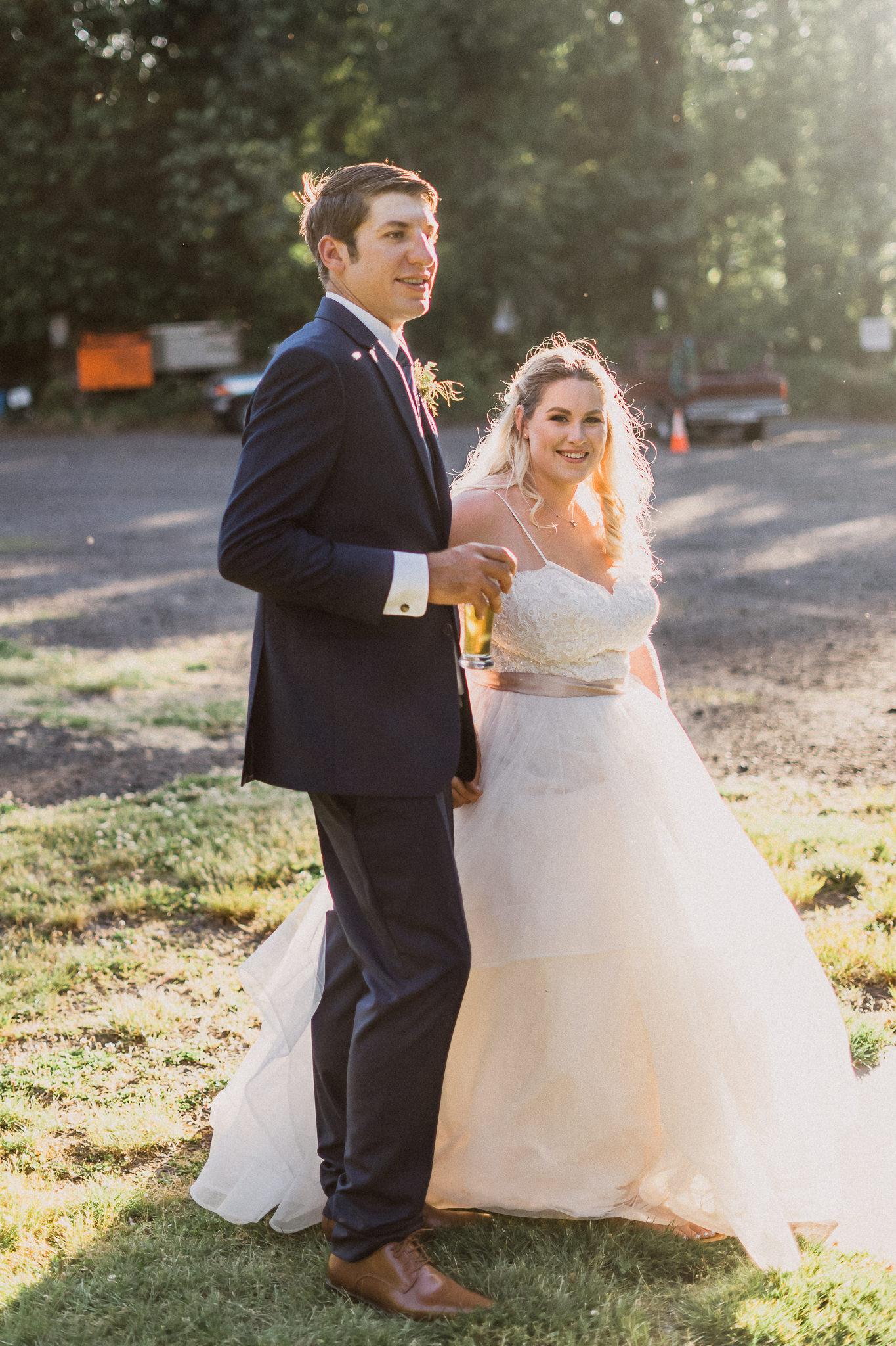 grand entrance wedding backyard Columbia River Gorge oregon wedding