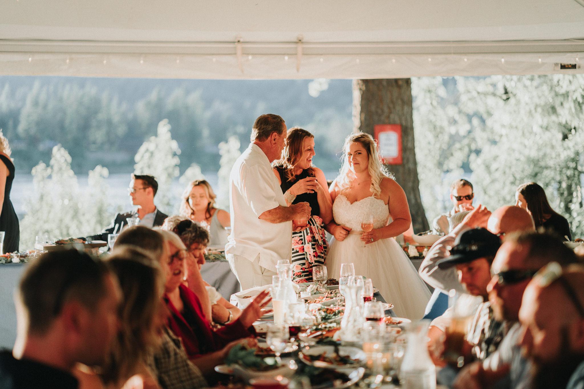 Dinner Columbia River Backyard Wedding Photographer Best Oregon