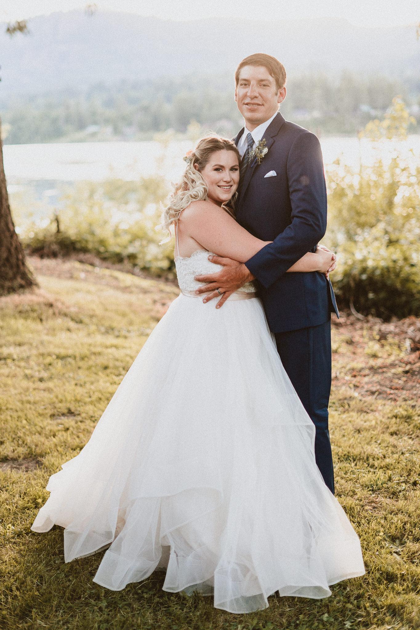 vertical portrait wedding photography Columbia River Gorge Wedding Photographer Backyard