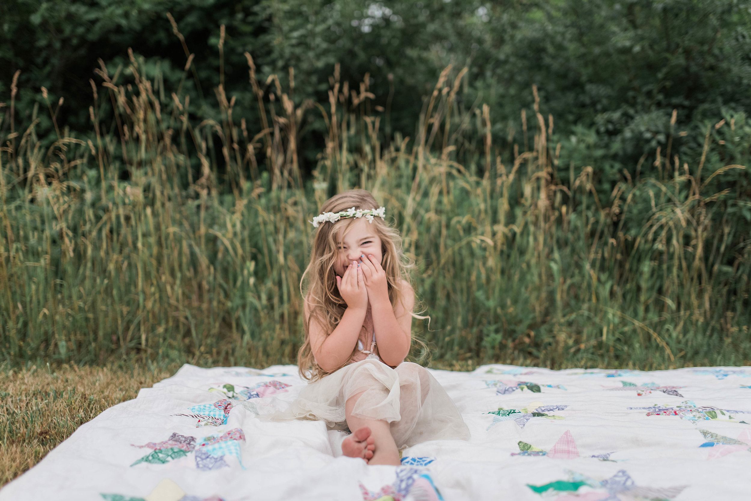 Flower crown sibling photography session Grimsby, Niagara