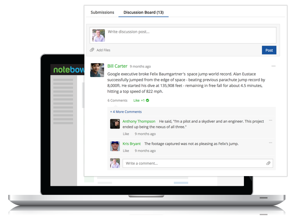 Generate Discussion - Student-friendly discussion boards drive interaction with familiar social features like comments and profile pictures. Our quick grader makes it a breeze to evaluate assigned discussions.