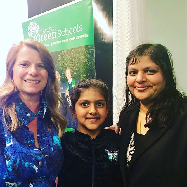 """At @projectgreenschools Green Difference Awards in Boston! Great to meet so many inspiring people and youth like Madhvi Chittoor @plasticpollutes Youth Ambassador and """"Styrofoam Ninja"""" who is using all her artistic talents for activism. #breakfreefromplastic #refusesingleuse #strawsfilm #projectgreenschools"""