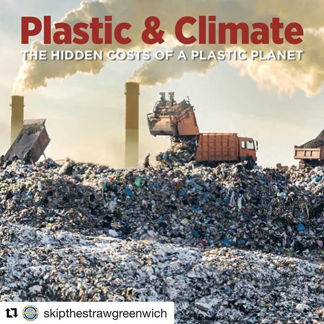 The entire life cycle of #plastic is responsible for adding to climate change and harmful to humans. In 2019, plastic production and incineration will add more than 850 million metric tons of greenhouse gases to the atmosphere — the equivalent of pollution from 189 new 500-megawatt coal-fired power plants. #Repost @skipthestrawgreenwich ・・・ Hot off the press! A new  report by the Center for International Environmental Law estimates, for the first time, plastic's contribution to greenhouse gas emissions — and the results are alarming.  https://www.ciel.org/plasticandclimate/  For the planet and our future, skip the straw and single use plastics!  #planetorplastic #refusesingleuse #breakfreefromplastic