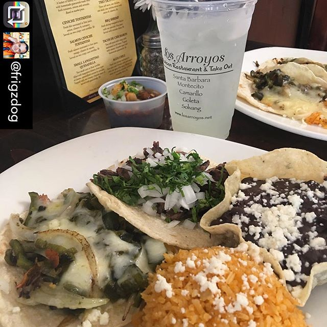 You can never go wrong with our Tacos A Mano Especial- Everyday is Taco Day! 😎 . . . #losarroyosmexicanrestaurant #sbeats #805food #handmadetacos #tacomonday🌮