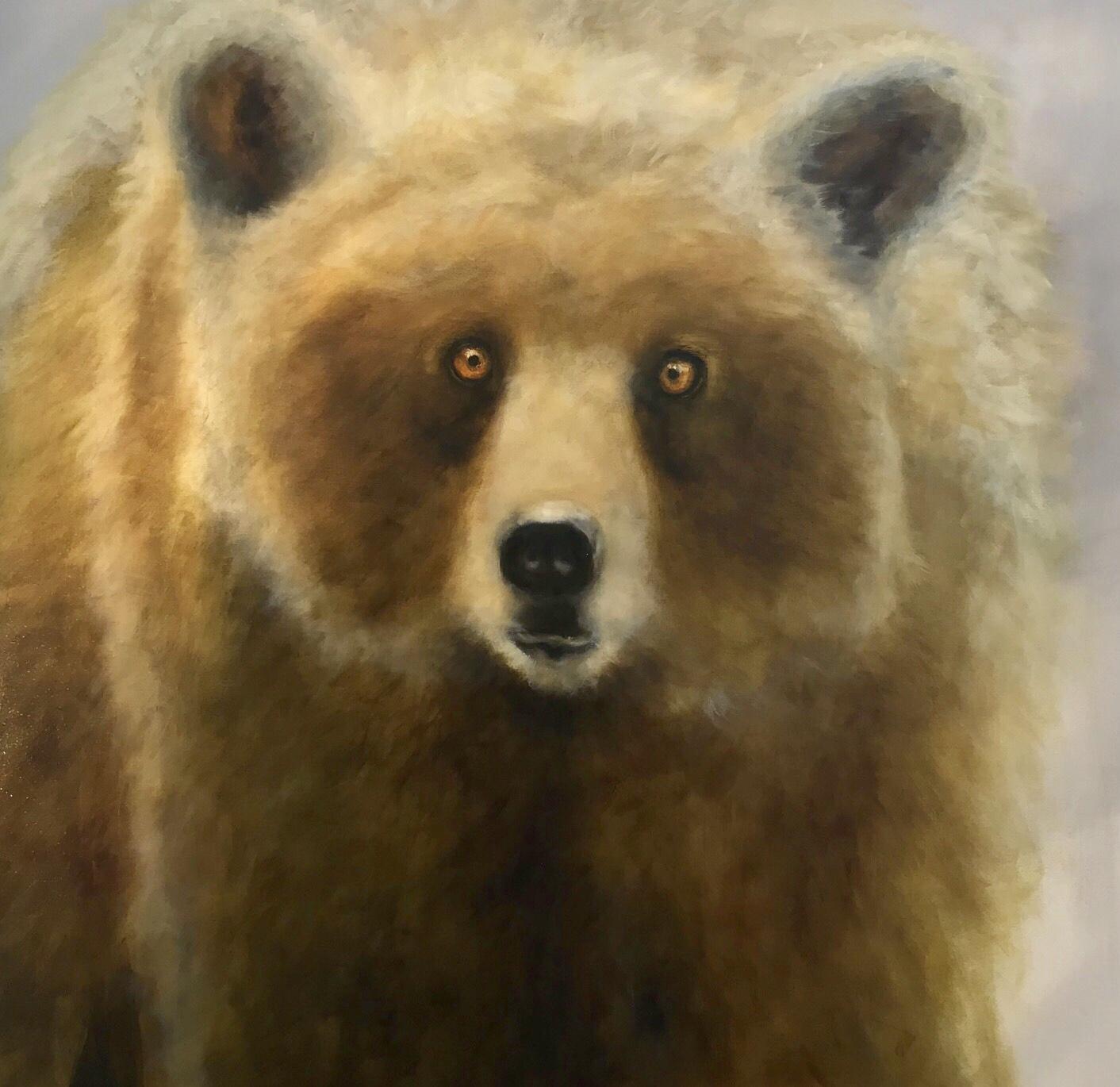 New Moon Bear 48 x 48 Sold