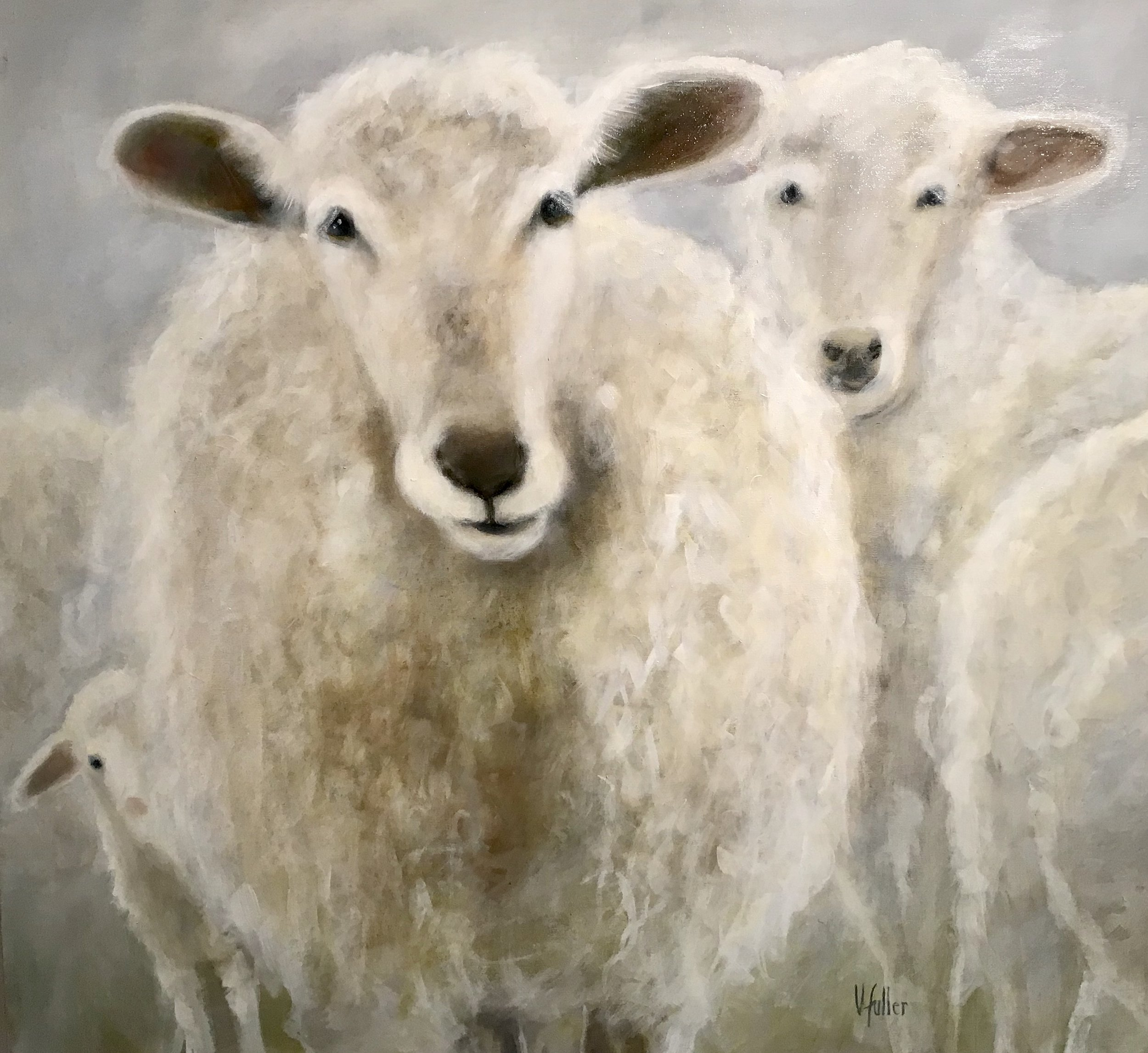 Counting Sheep 36 x 36 Sold