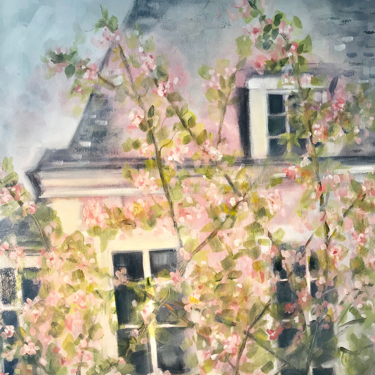 Chateau Blossoms 30 x 30 Sold