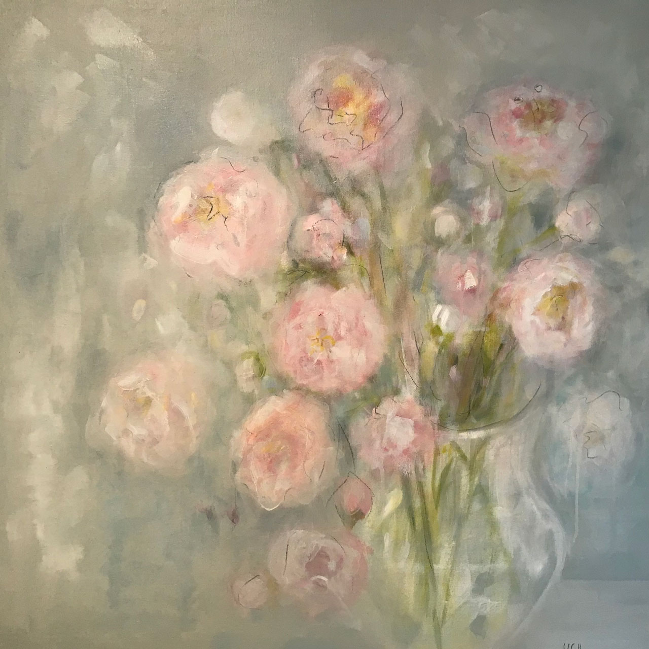 Peonies 36 x 36 Available