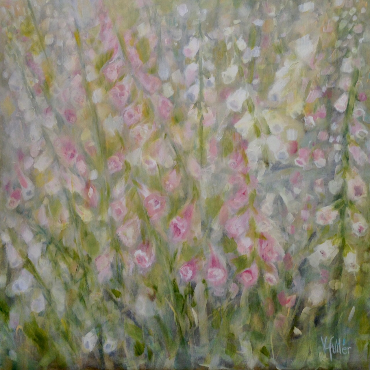 Fox Glove 36 x 36 Sold
