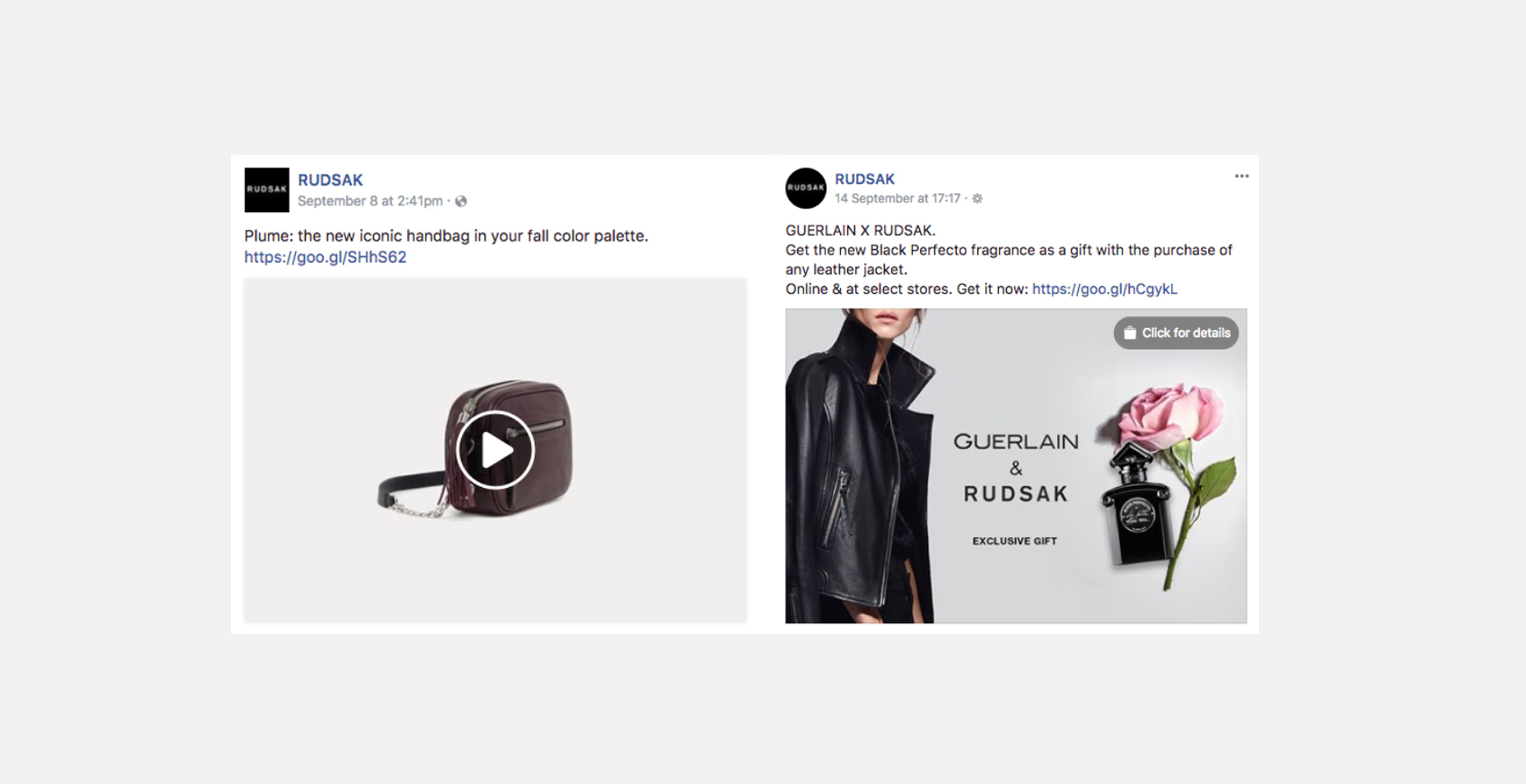 A selection of Facebook Posts