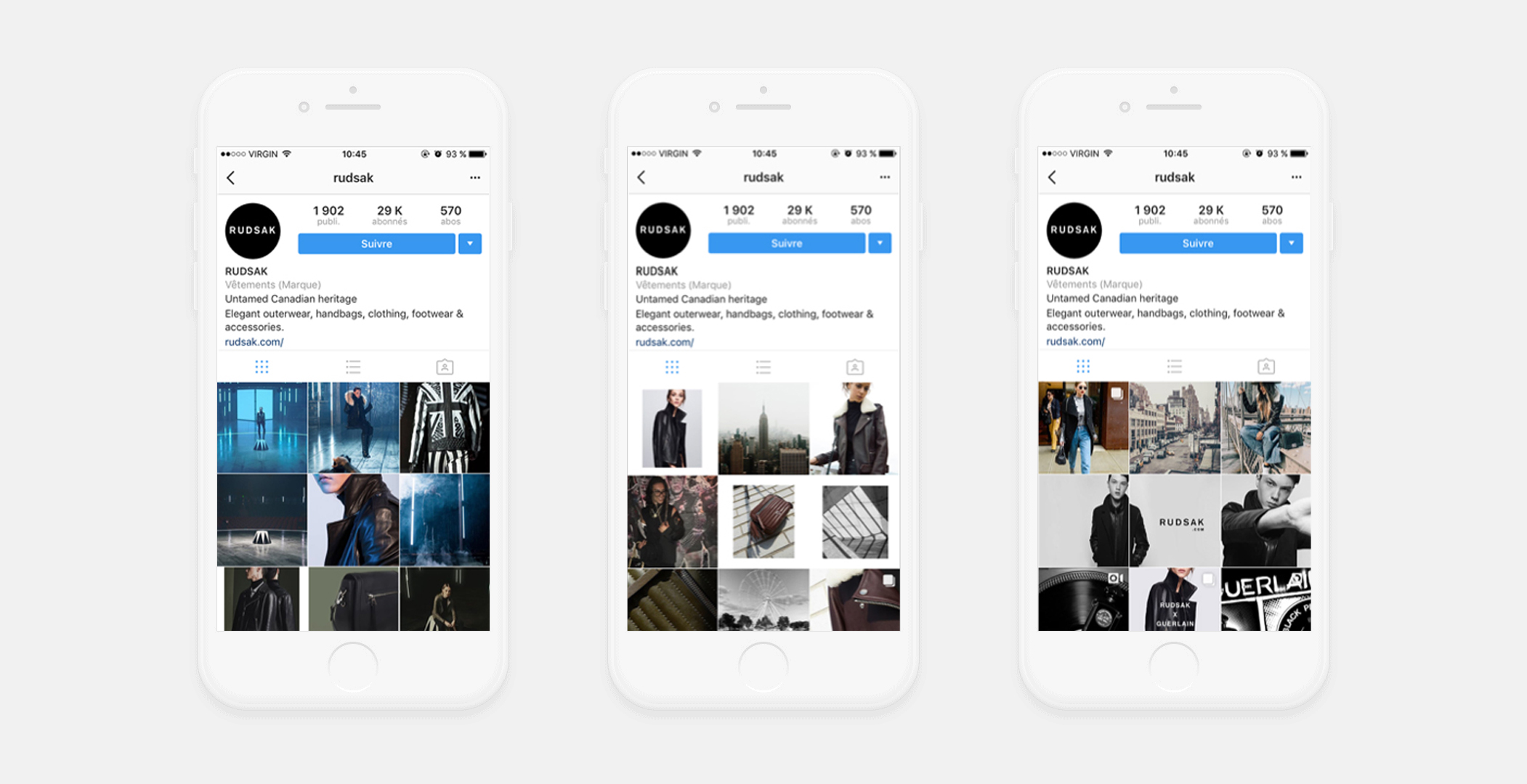 Evolution of the Instagram Strategy following the new branding.