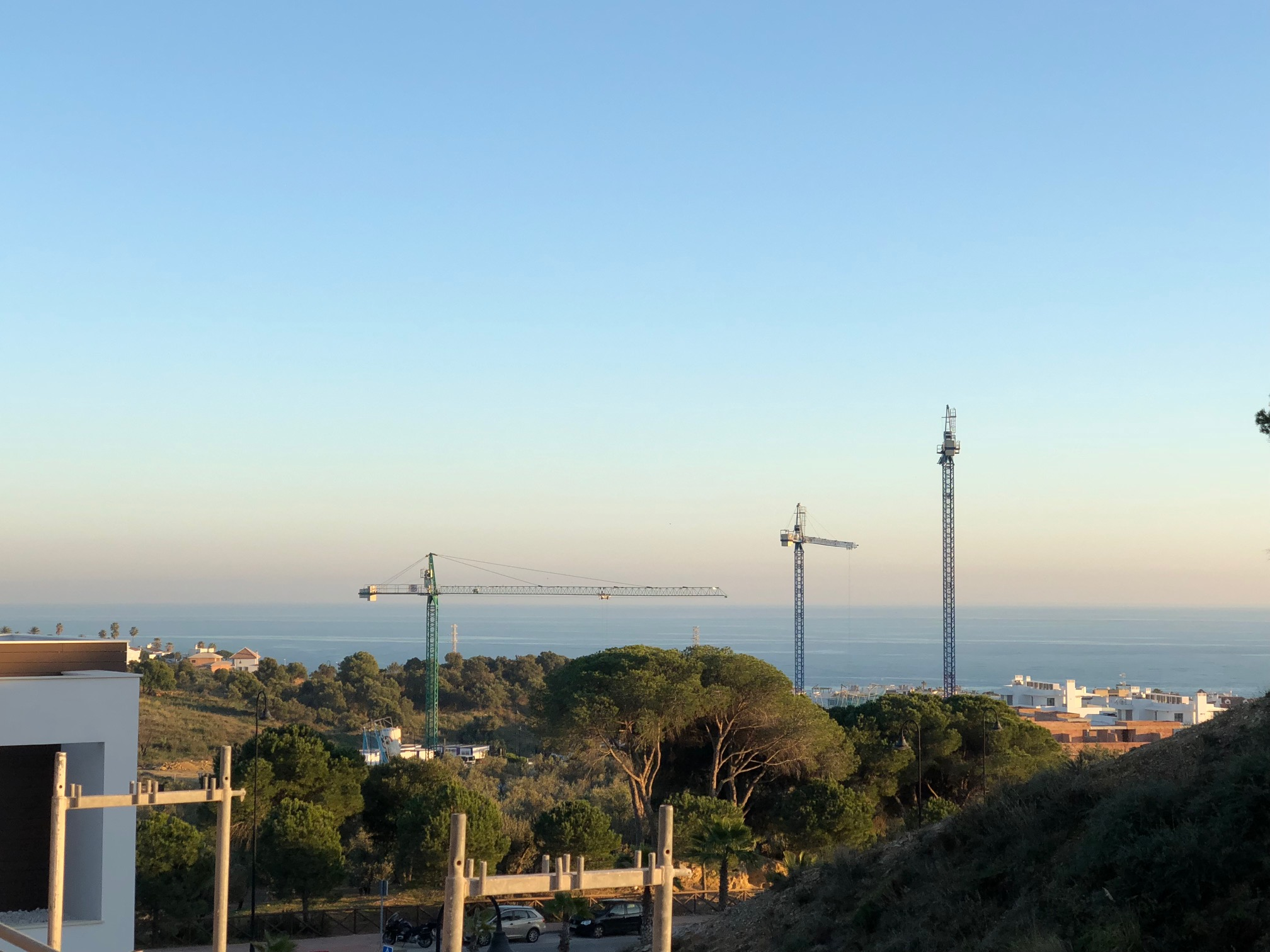 25/01/2018 View from Villa 1 terrace
