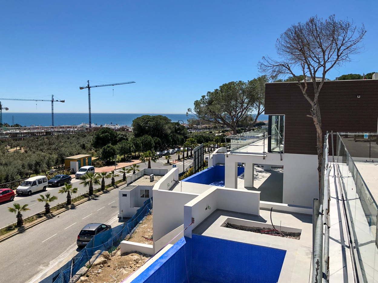 29/03/2018 The view from Villa 8 towards the ocean