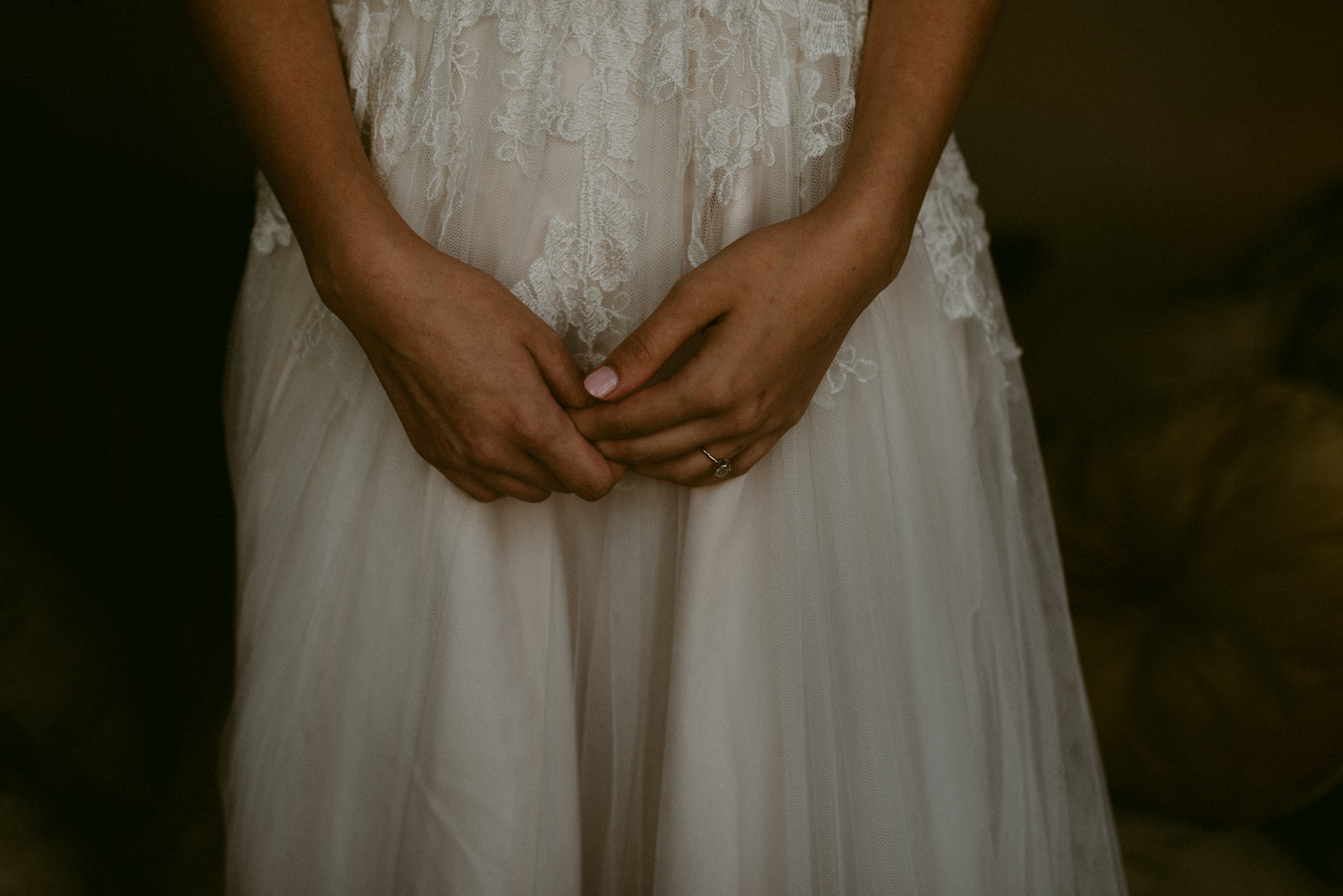 Intimate-Cathedral-Oaks-Wedding-Lace-Wedding-Dress-Getting-Ready-Kerlyn-Van-Gelder-Photography-Austin-Wedding-Photographer